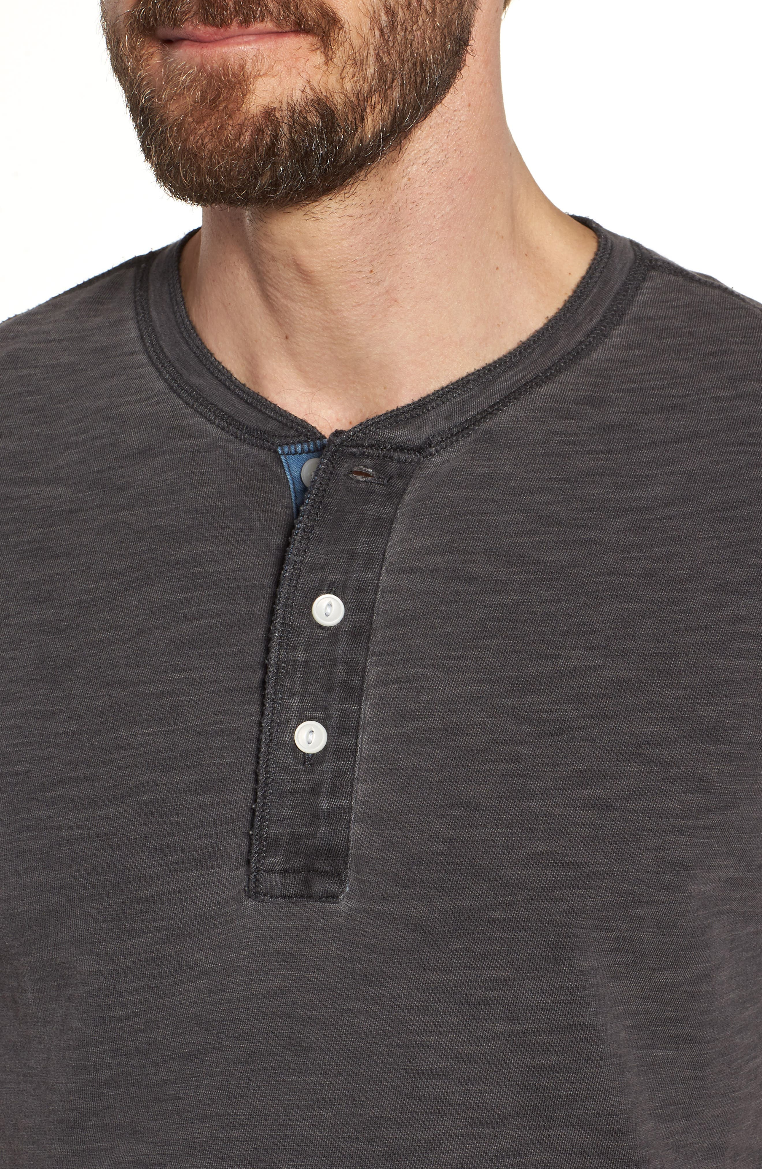 Short Sleeve Henley,                             Alternate thumbnail 4, color,                             001