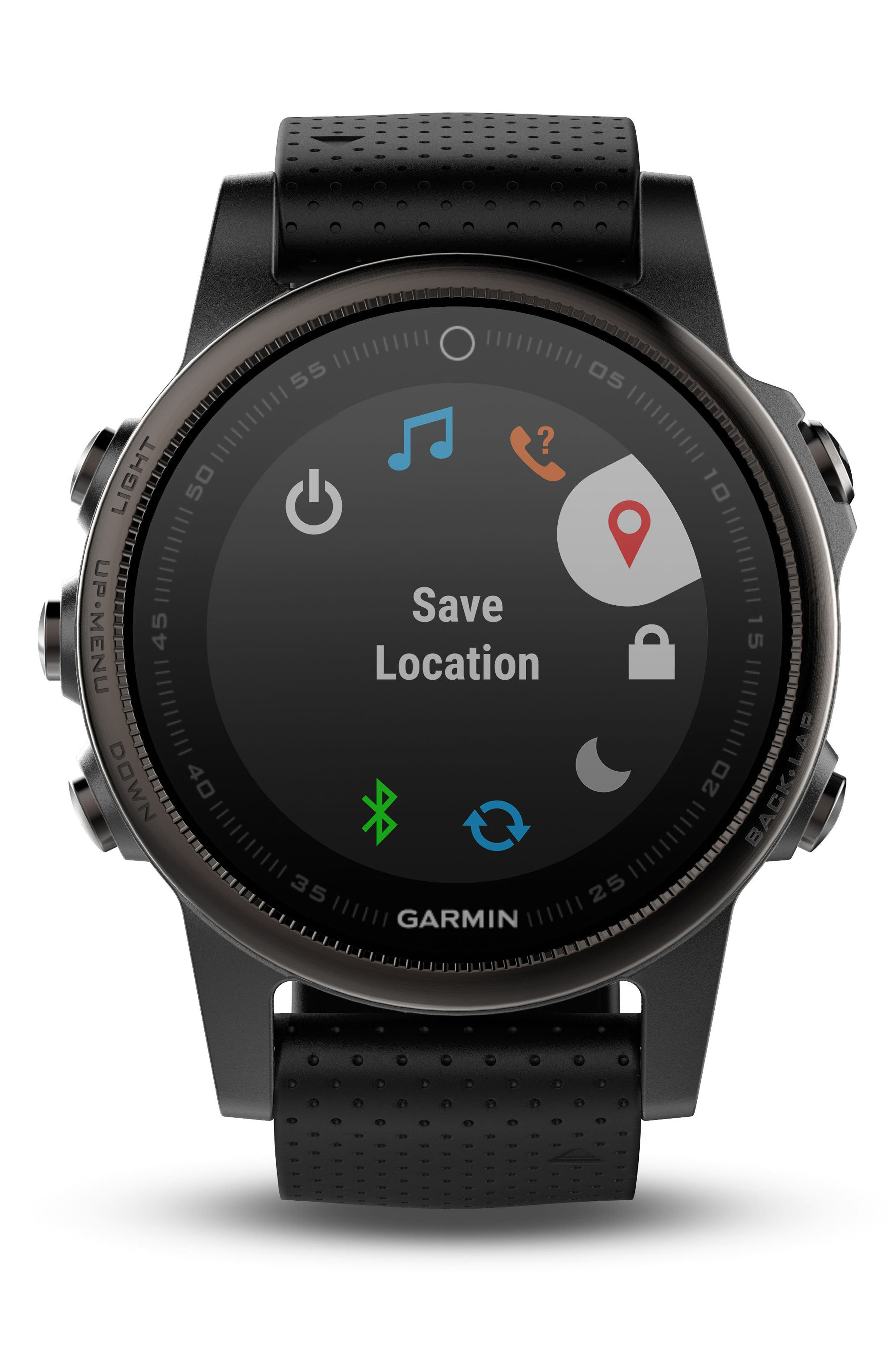 fenix<sup>®</sup> 5S Sapphire Premium Multisport GPS Watch, 42mm,                             Alternate thumbnail 5, color,                             001