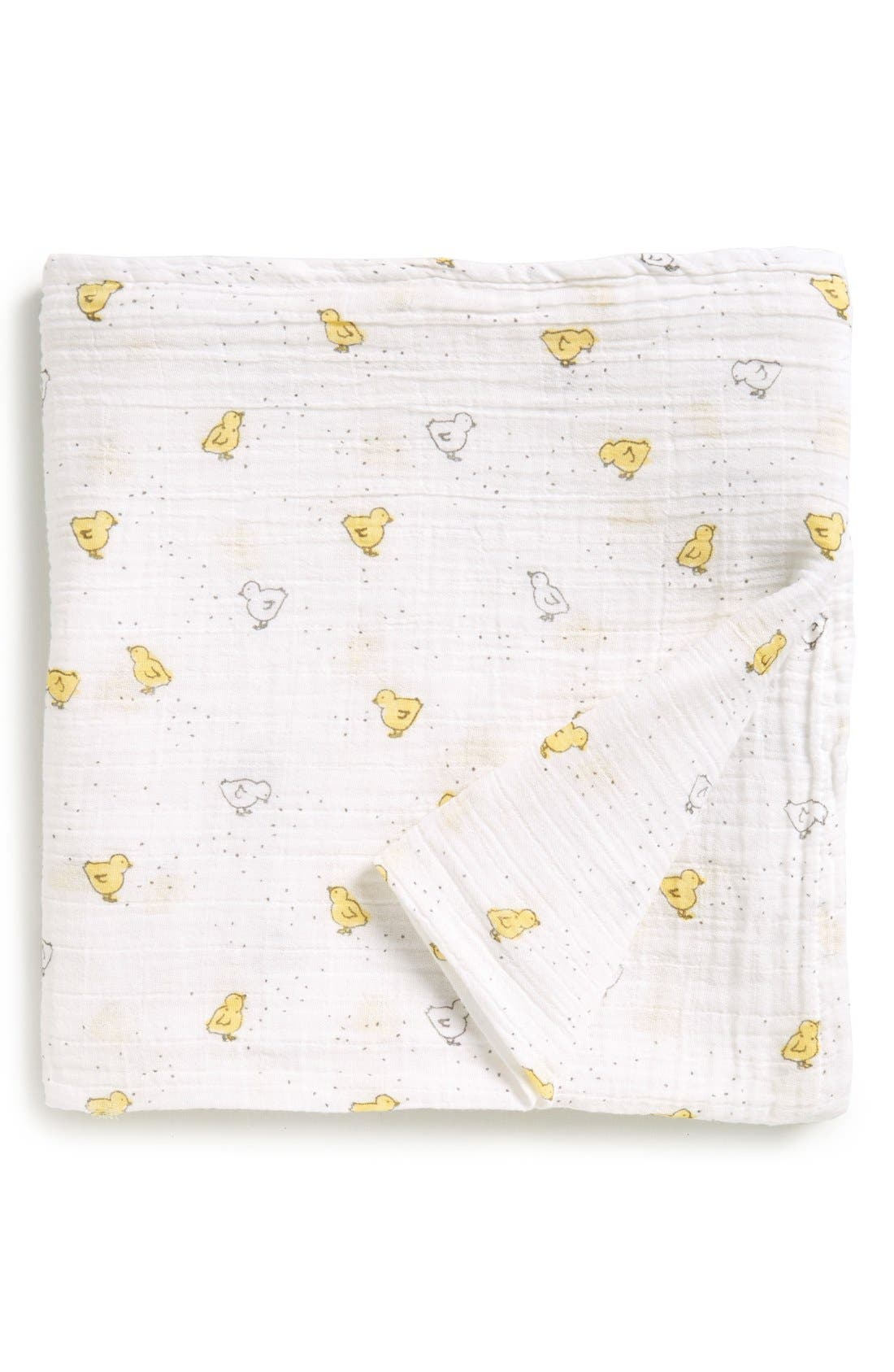 Baby Chick Swaddle Blanket,                             Main thumbnail 1, color,                             100
