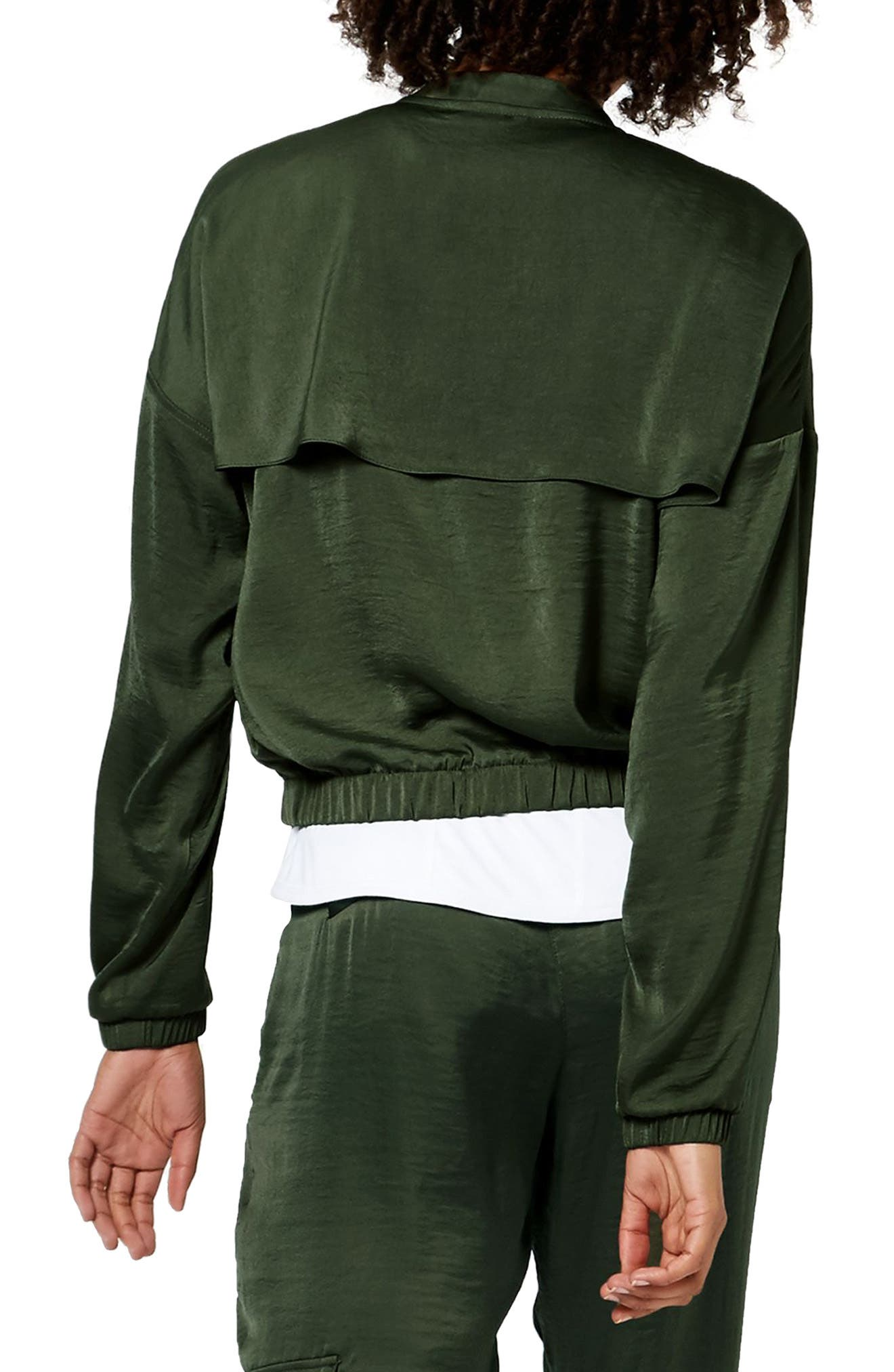 Cargo Luxe Jacket,                             Alternate thumbnail 2, color,                             OLIVE