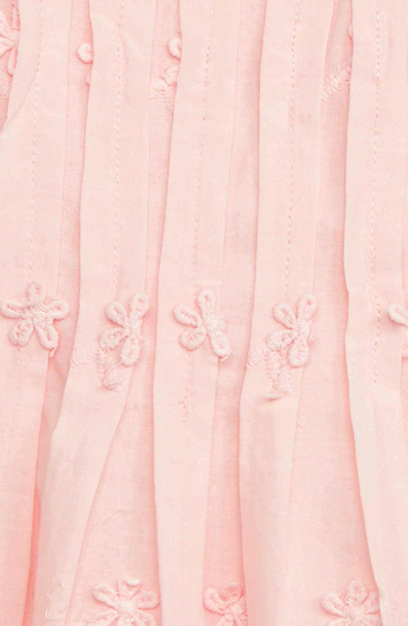 RUBY & BLOOM,                             Flower Embroidered Pleated Dress,                             Alternate thumbnail 2, color,                             PINK CHINTZ