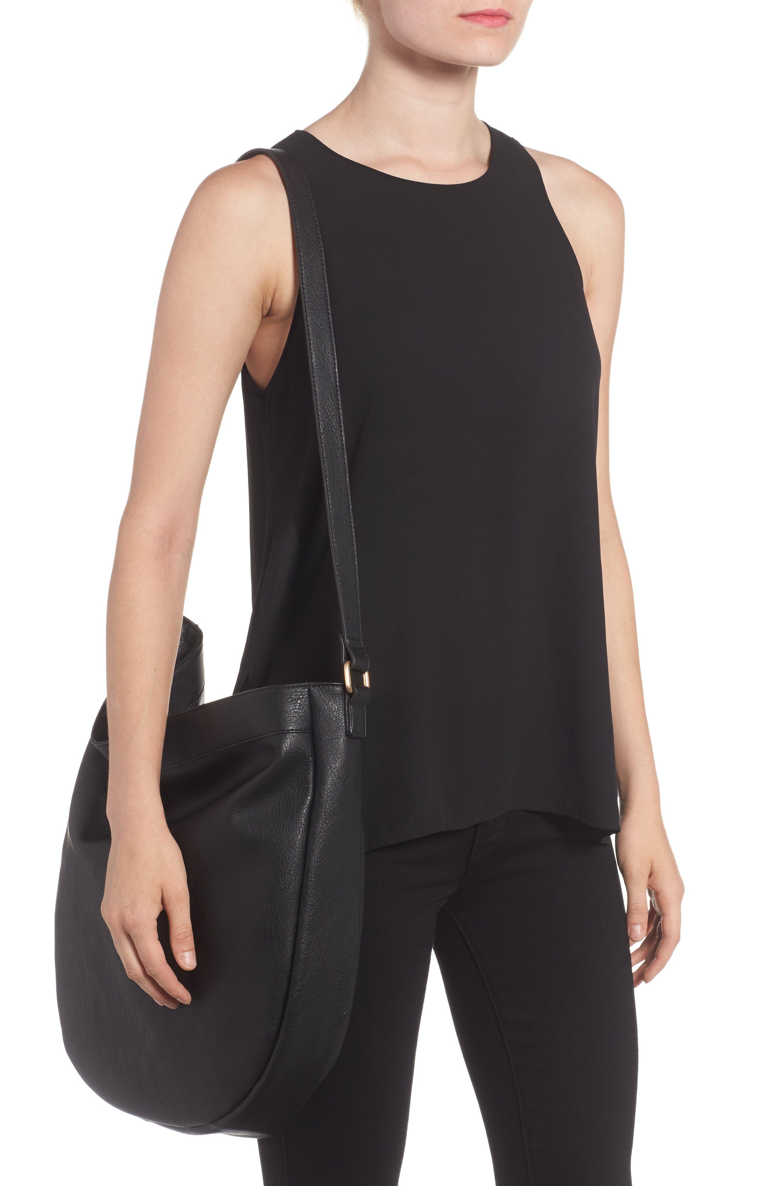 Kadence Faux Leather Shoulder Bag,                             Alternate thumbnail 3, color,