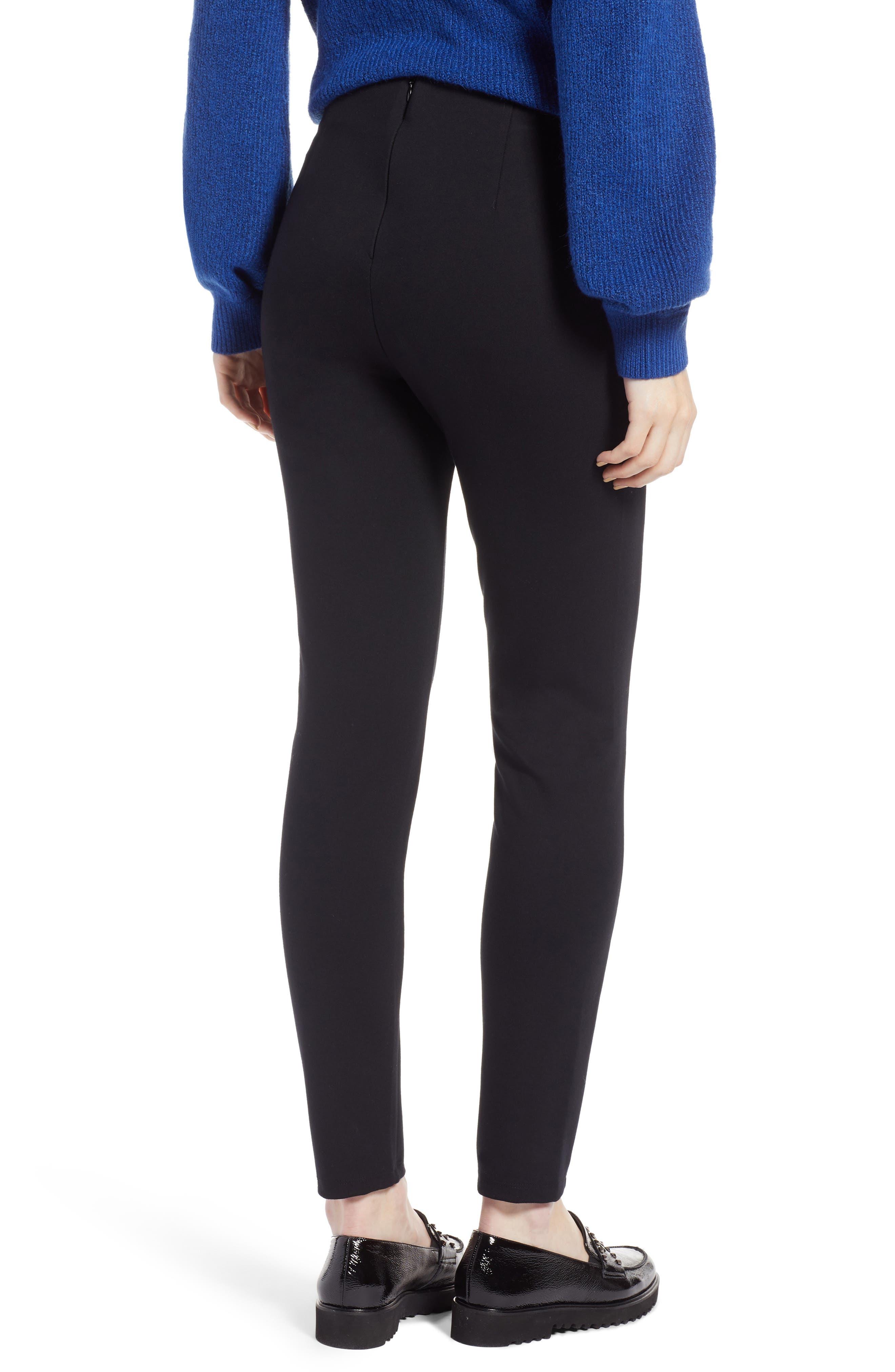 Skinny Ponte Knit Pants,                             Alternate thumbnail 2, color,                             001