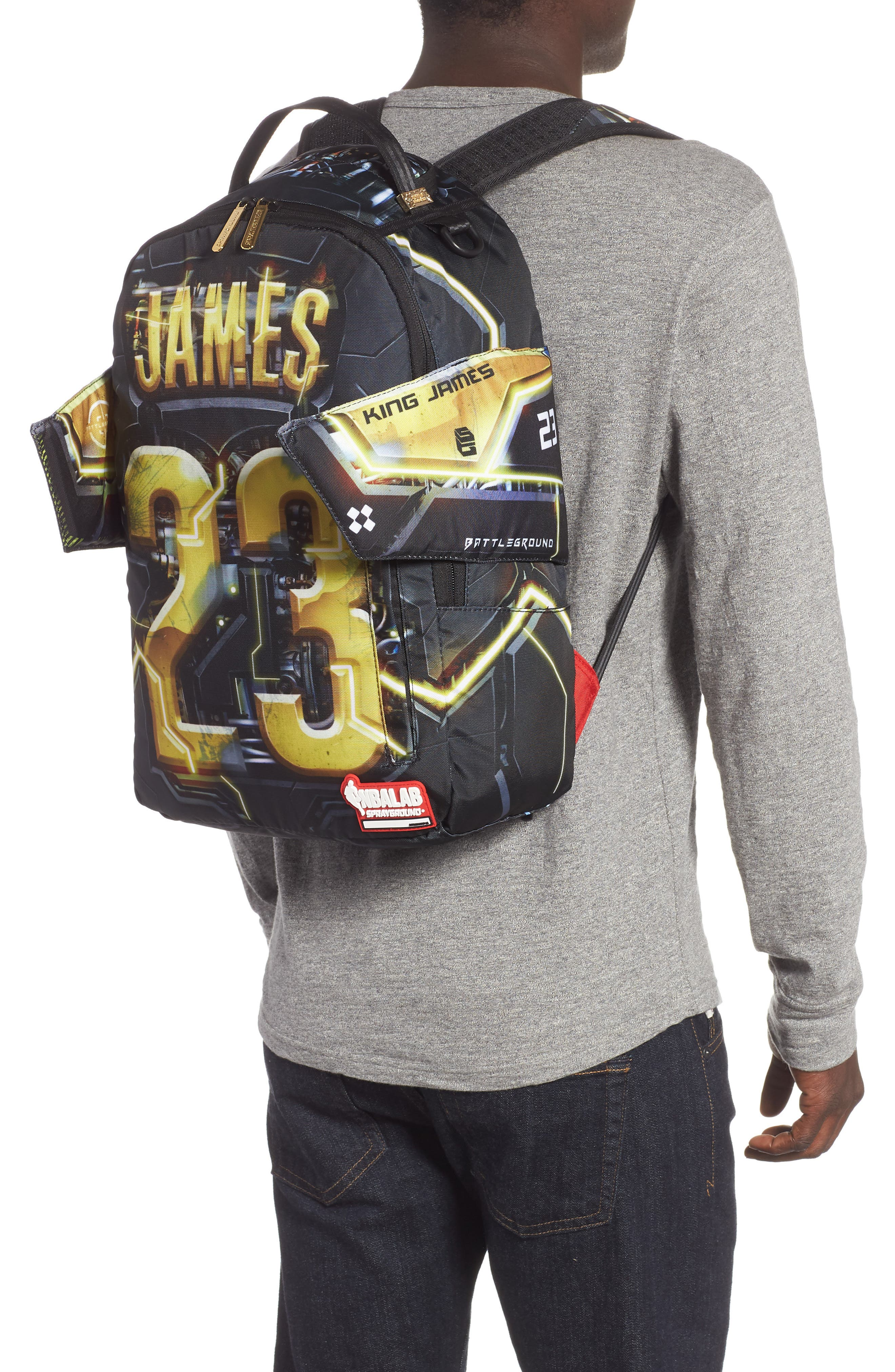 James Elysium Backpack,                             Alternate thumbnail 2, color,                             BLACK