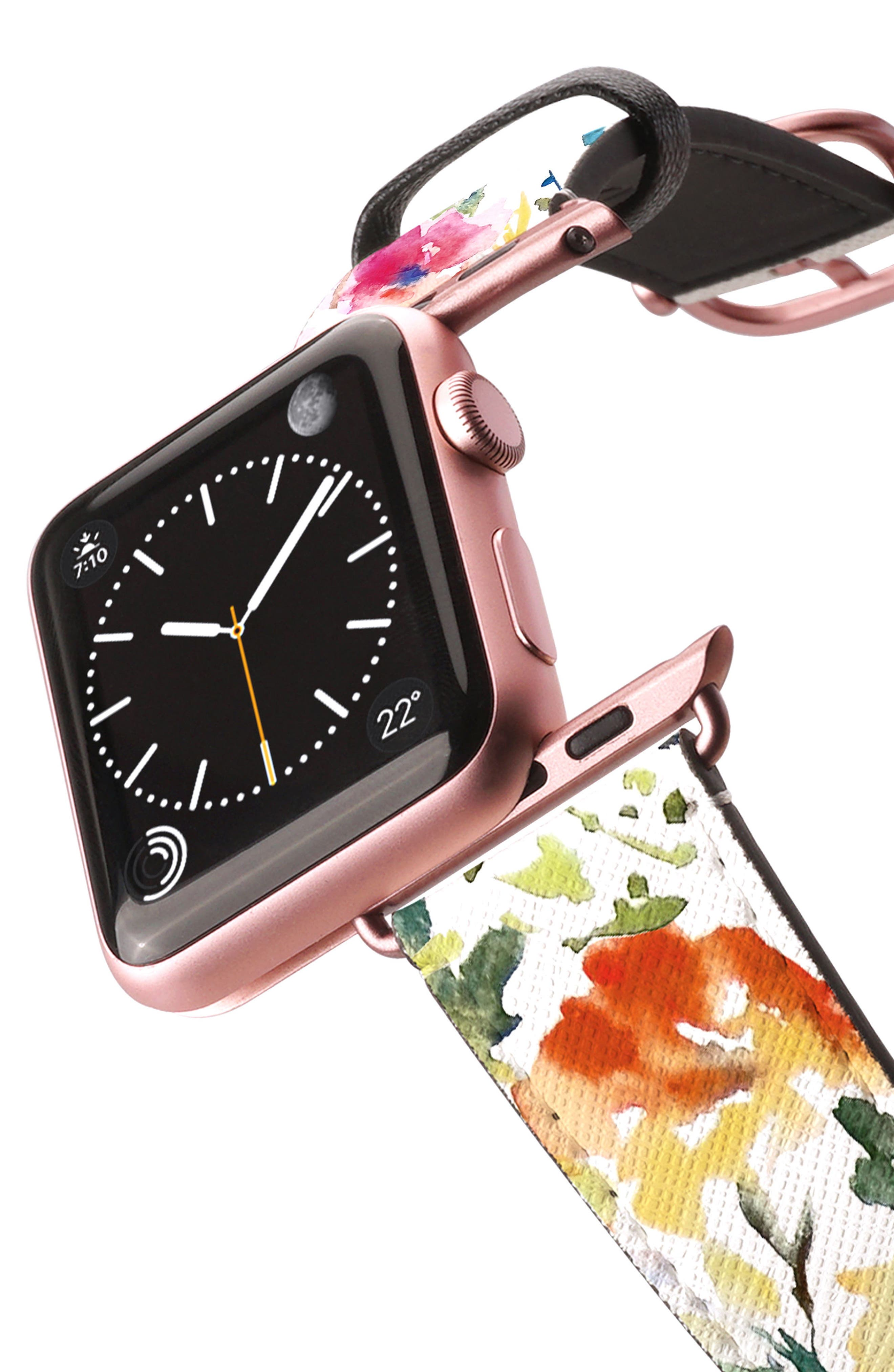 Saffiano Faux Leather Apple Watch Strap,                             Alternate thumbnail 21, color,