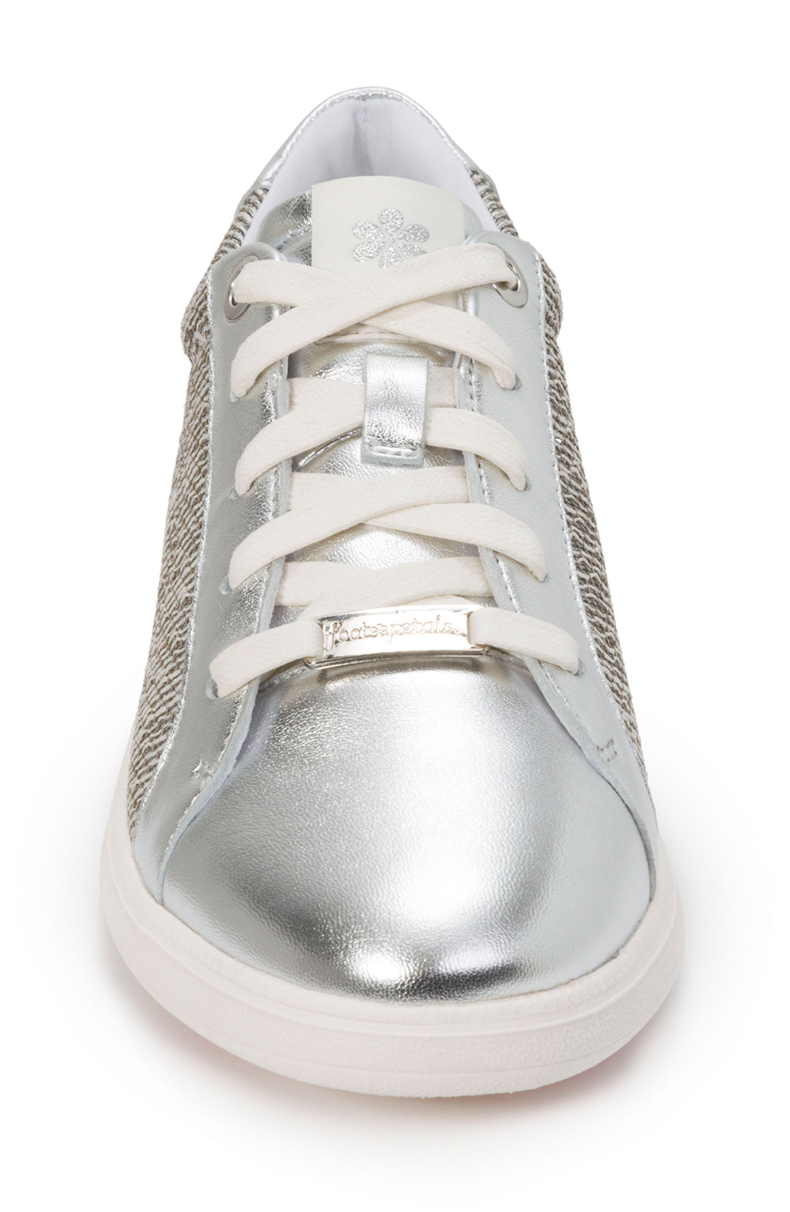 Andi Sneaker,                             Alternate thumbnail 4, color,                             SILVER LEATHER