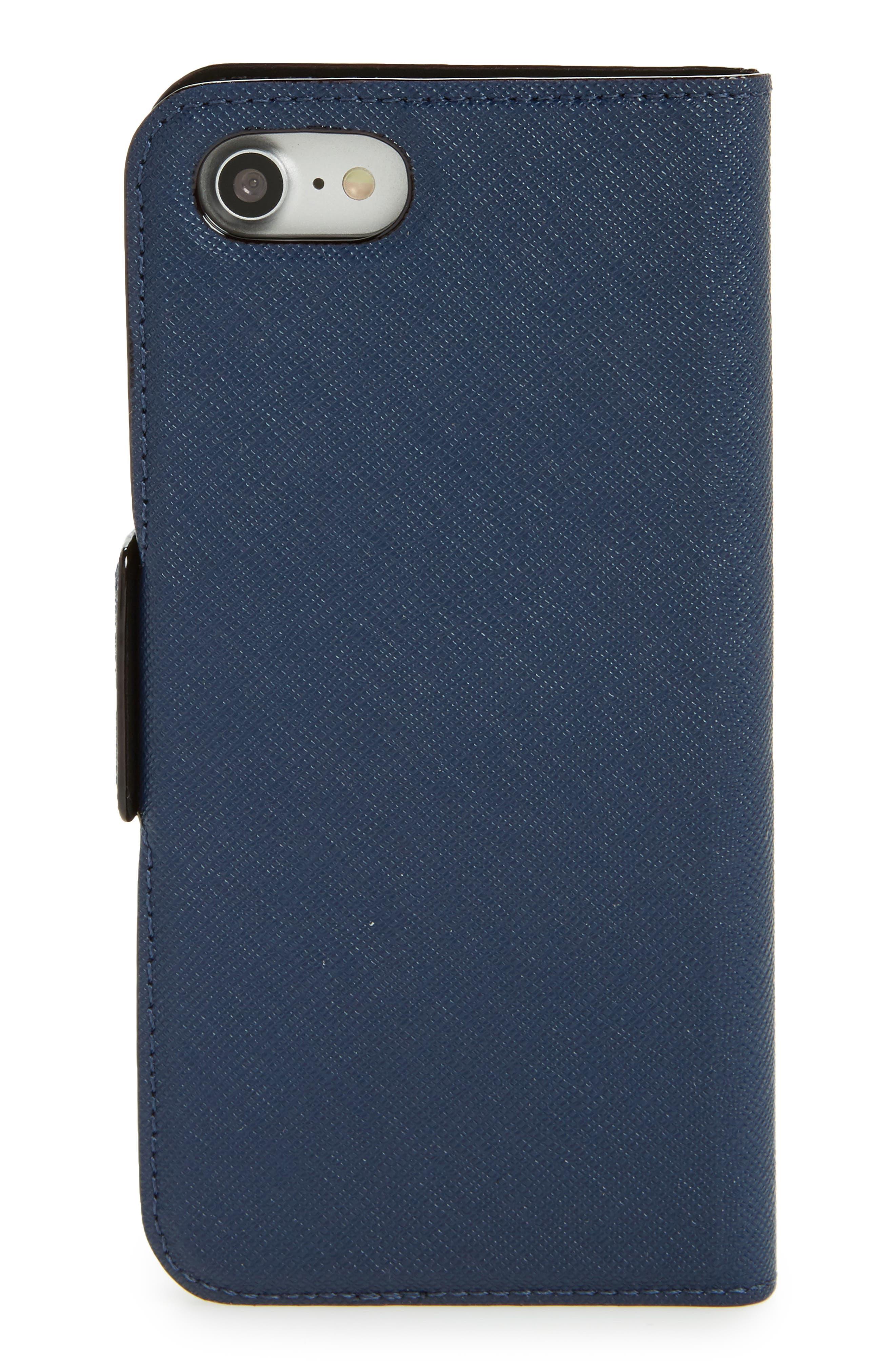 star appliqué iPhone 7/8 & 7/8 Plus folio case,                             Alternate thumbnail 3, color,