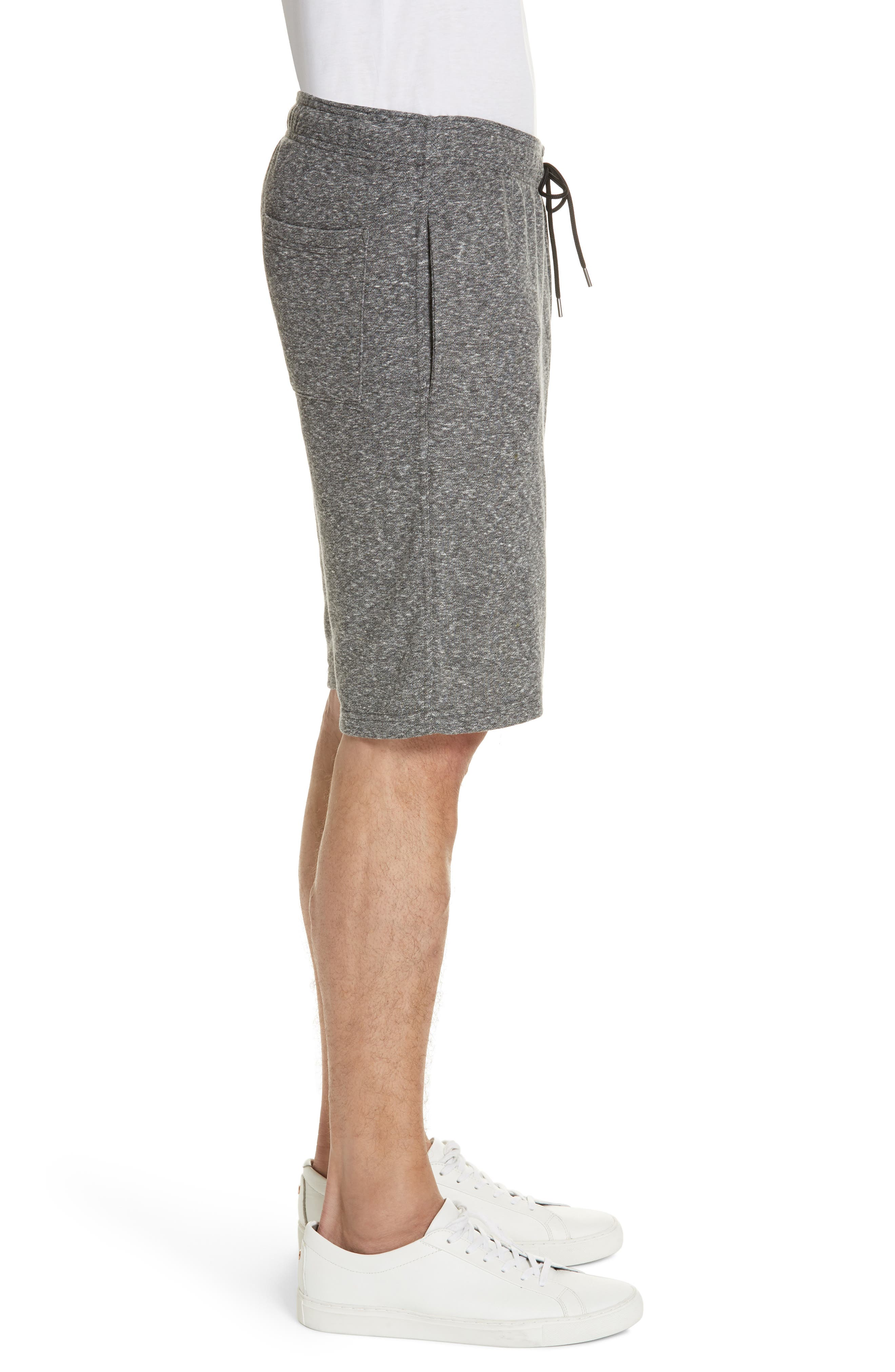 ONIA,                             Saul Terry Knit Shorts,                             Alternate thumbnail 3, color,                             ANCHOR GREY