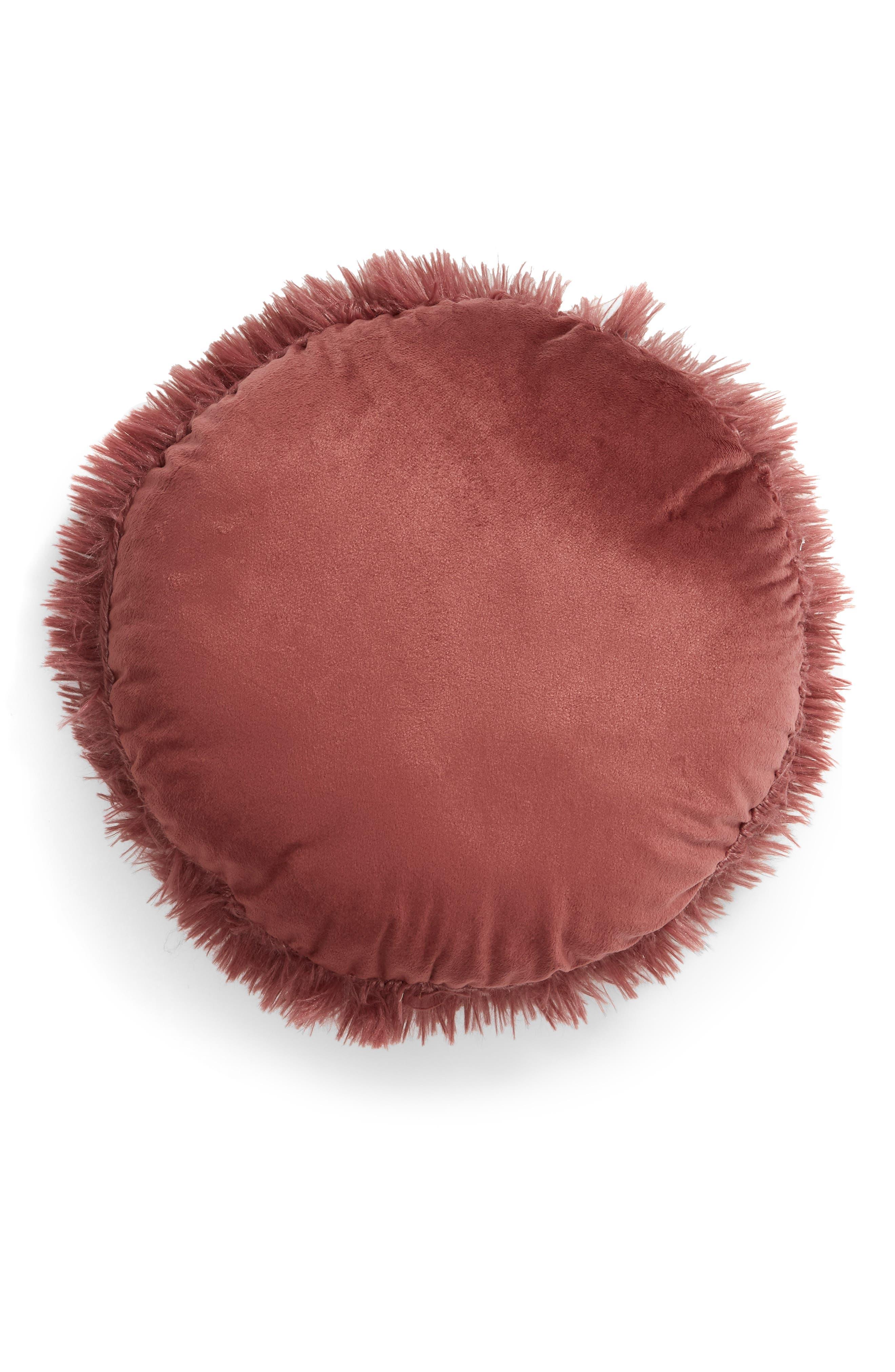 Feather Faux Fur Pillow,                             Alternate thumbnail 13, color,