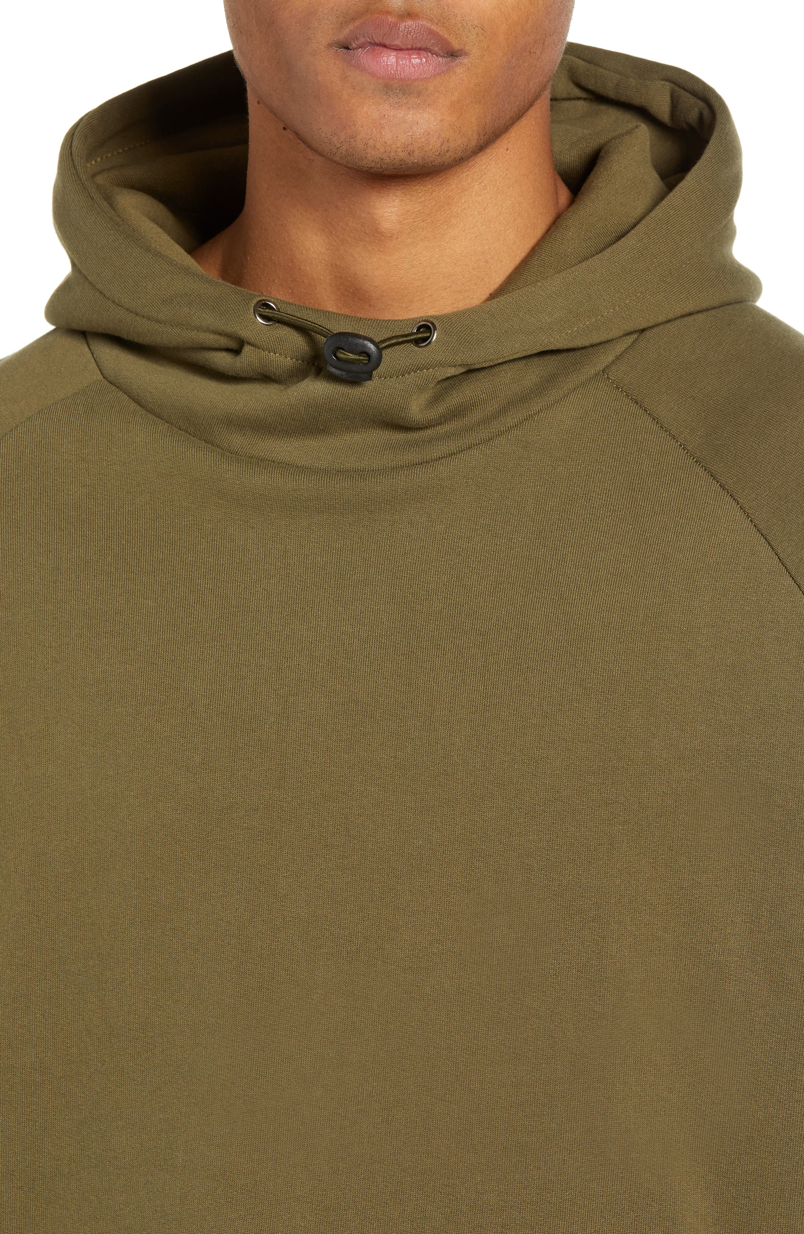 Patch Pocket Pullover Hoodie,                             Alternate thumbnail 4, color,                             OLIVE