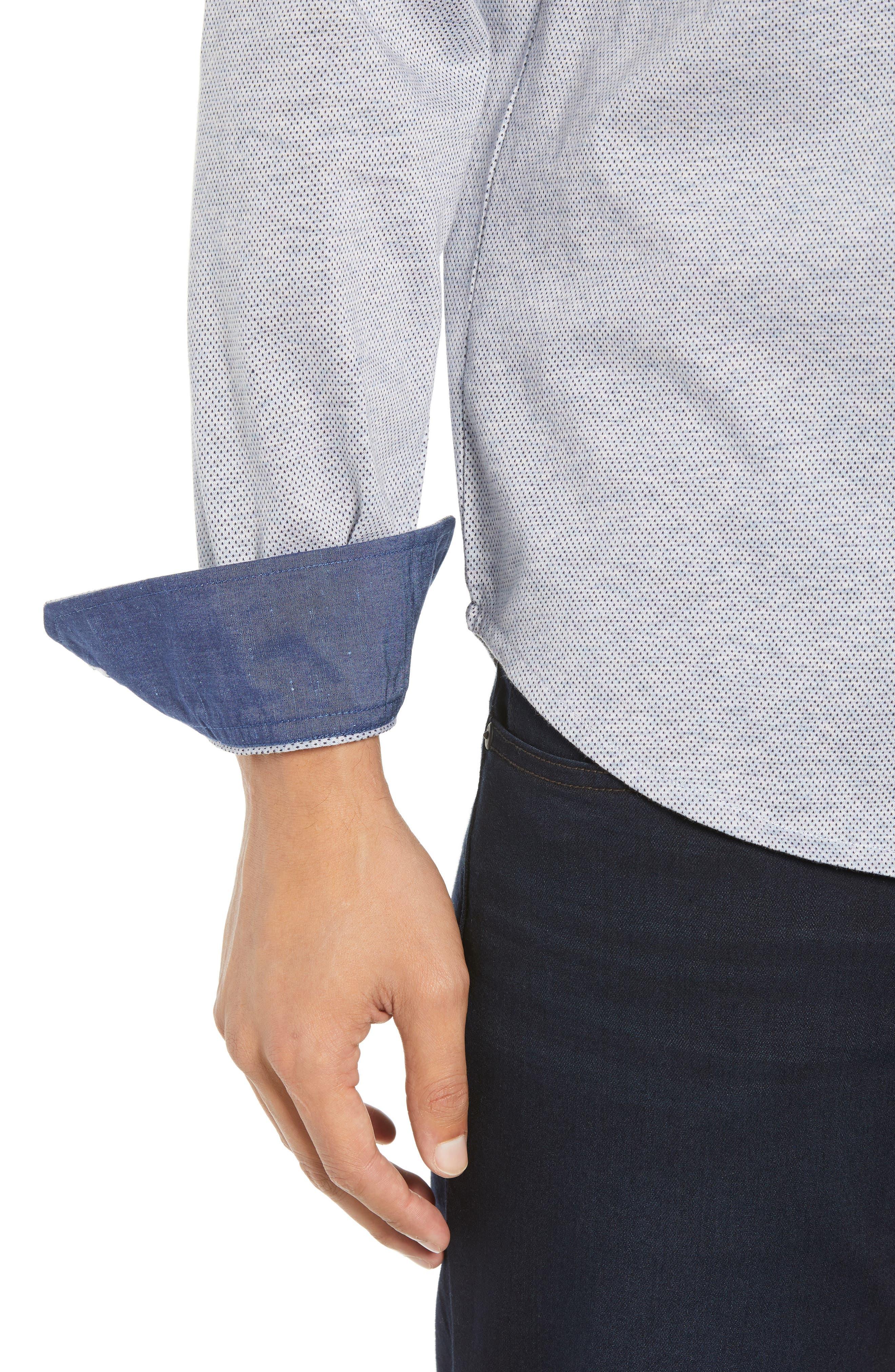Regular Fit Microdot Knit Sport Shirt,                             Alternate thumbnail 2, color,                             AIR BLUE