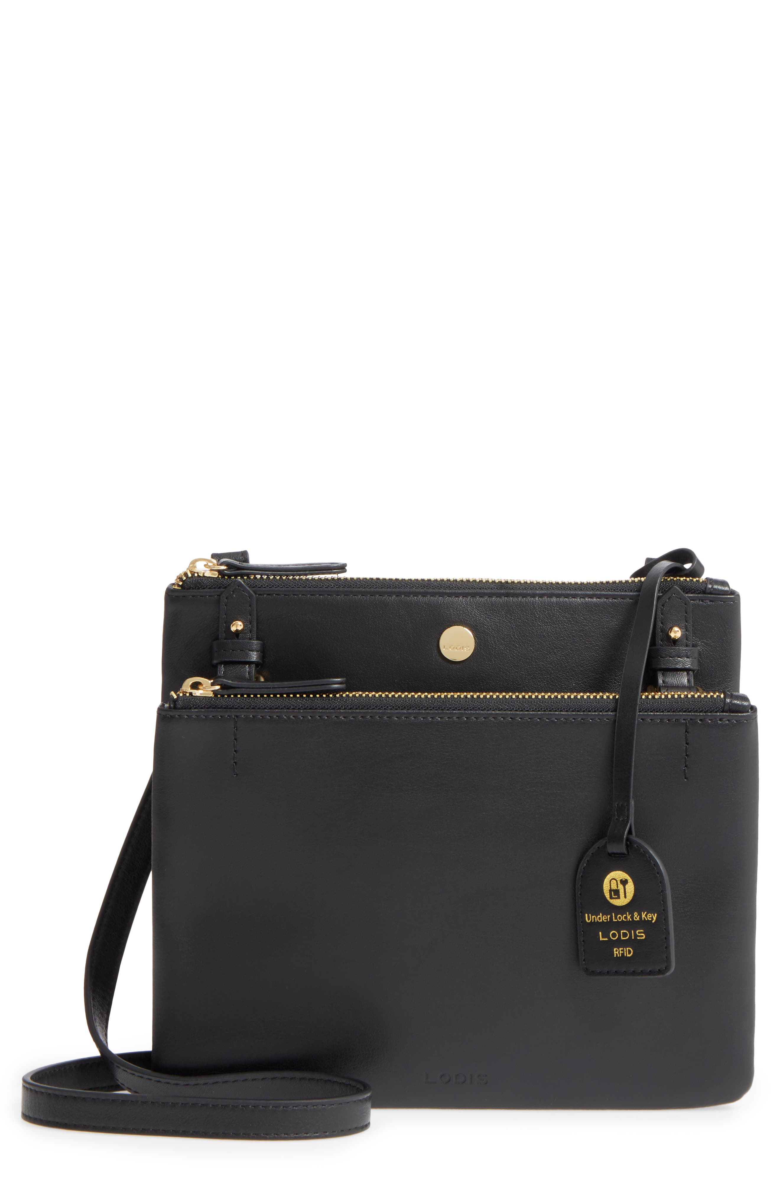 Downtown Latisha RFID Leather Crossbody,                             Main thumbnail 1, color,
