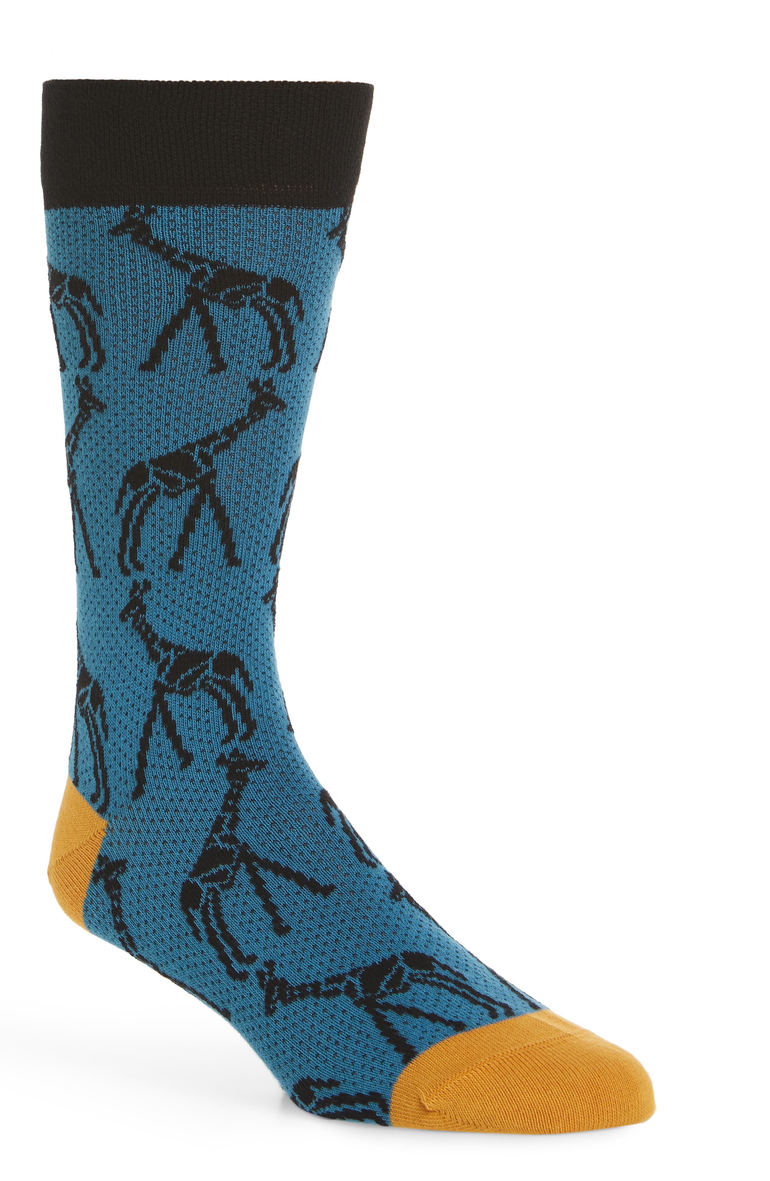 Giraffe Print Socks,                         Main,                         color, 430