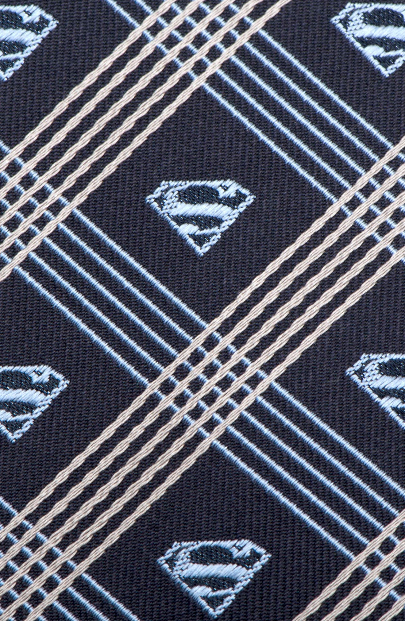 Superman Shield Silk Tie,                             Alternate thumbnail 3, color,                             020