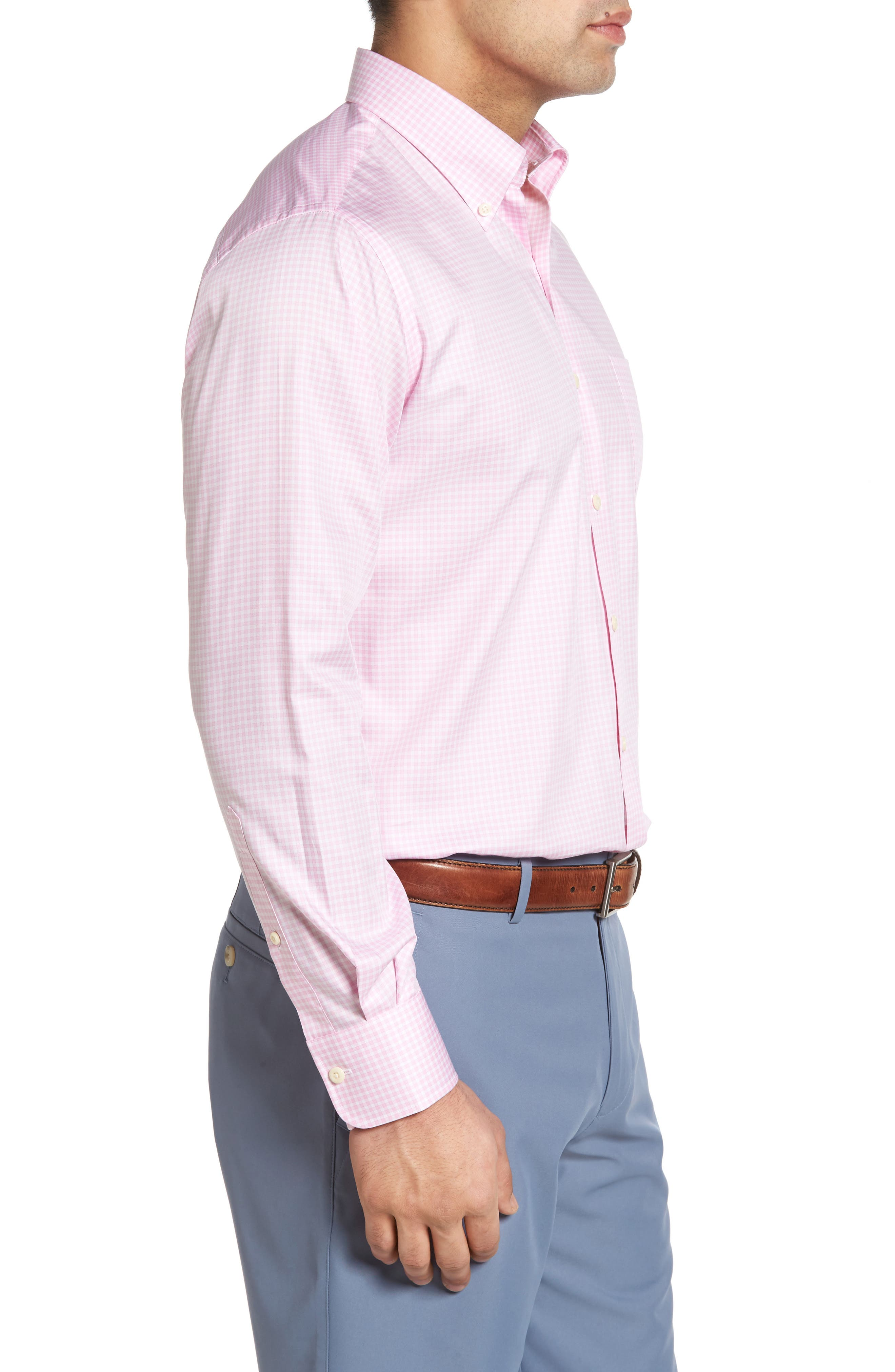 Crown Soft Gingham Regular Fit Sport Shirt,                             Alternate thumbnail 17, color,
