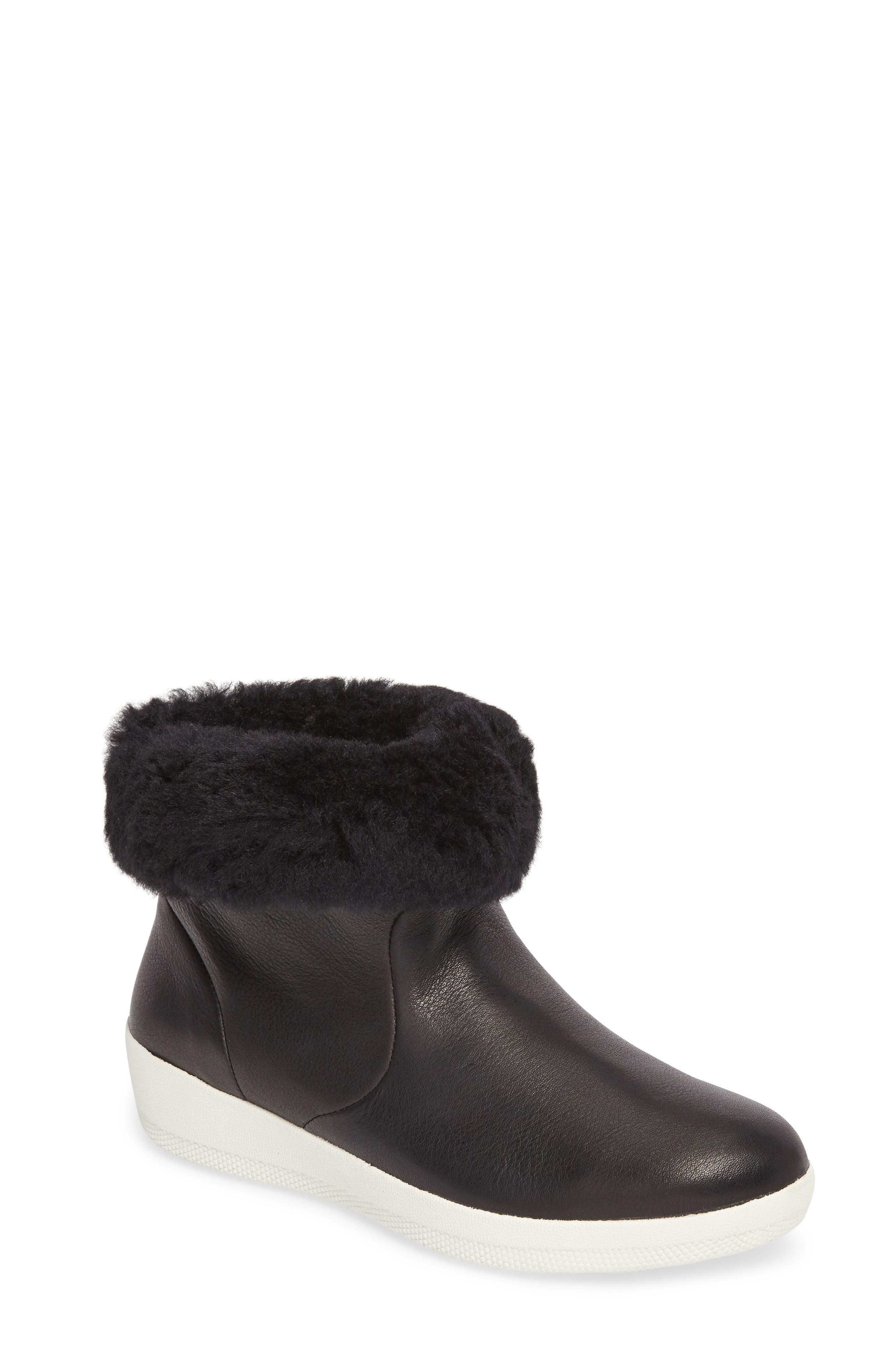 Skatebootie<sup>™</sup> with Genuine Shearling Cuff,                             Main thumbnail 1, color,