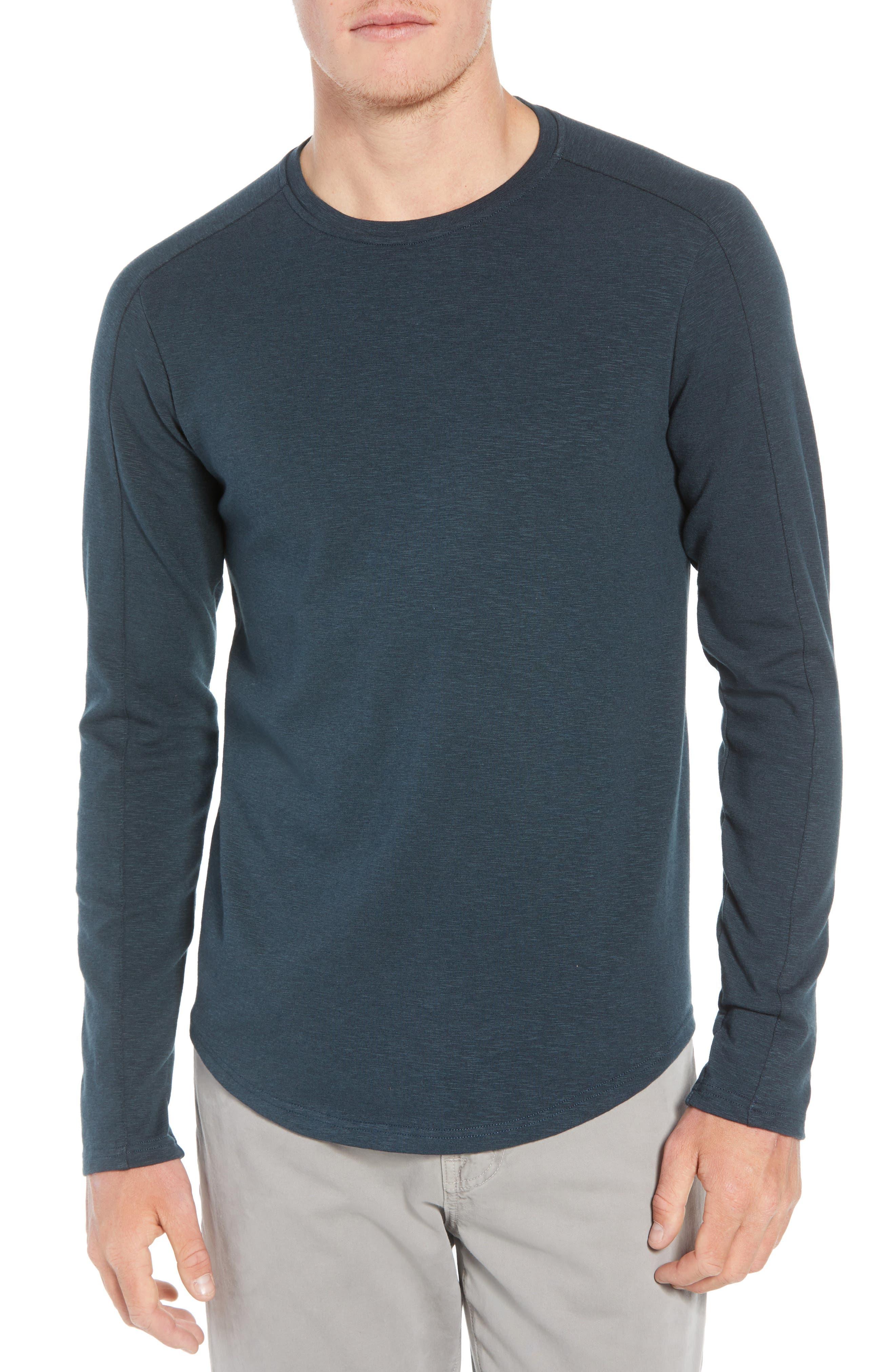 Douglas Slub Long Sleeve T-Shirt,                         Main,                         color, TEAL