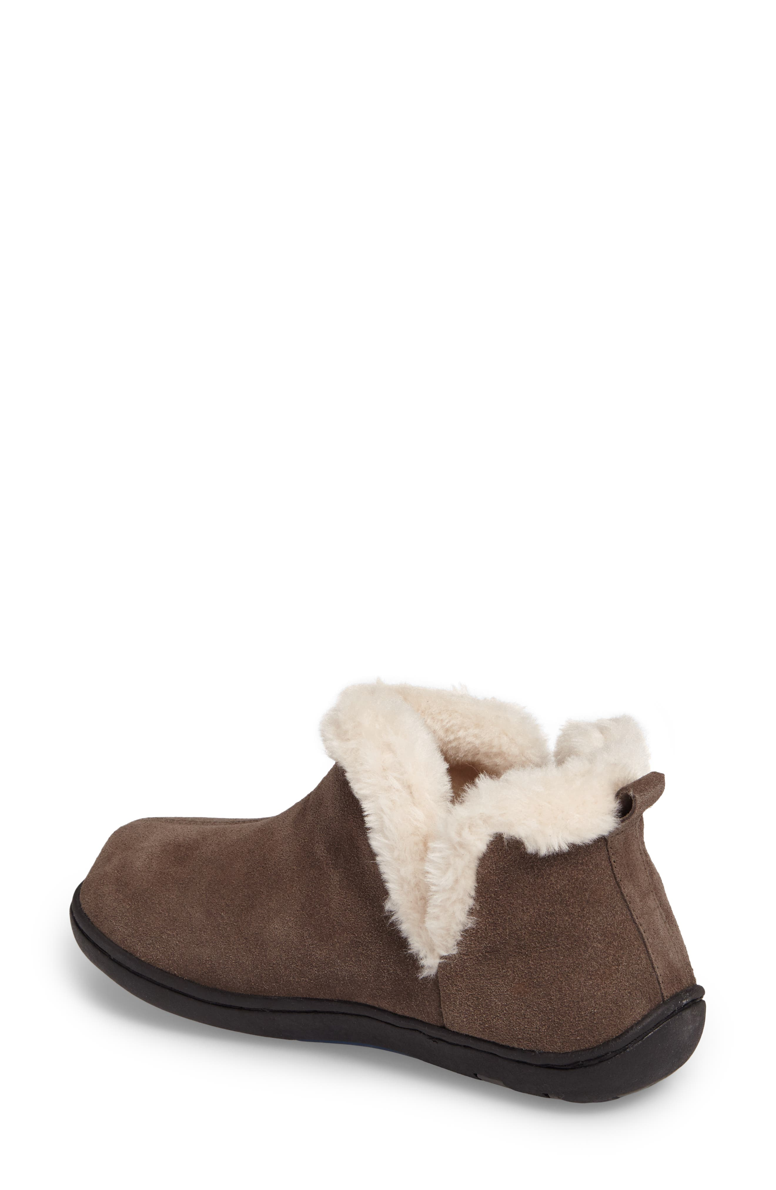 Vallery Bootie Slipper,                             Alternate thumbnail 2, color,                             GRAY SUEDE