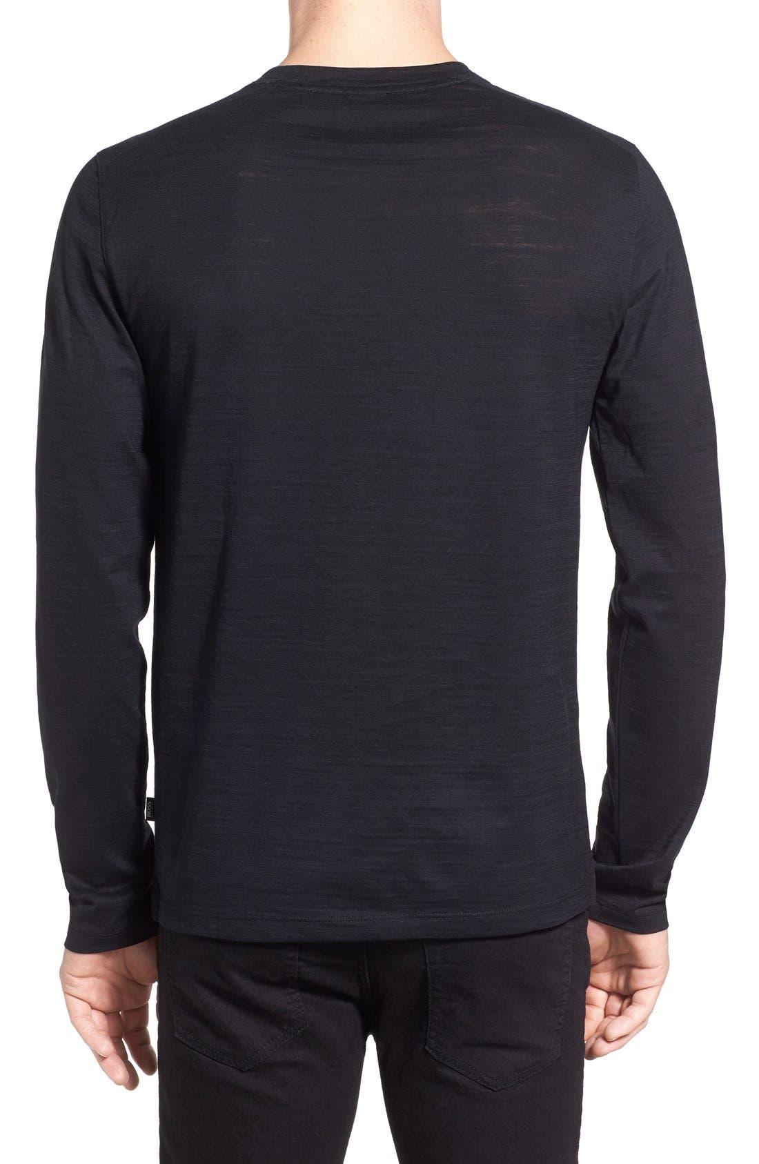 'Tenison' Slim Fit Long Sleeve T-Shirt,                             Alternate thumbnail 2, color,                             001