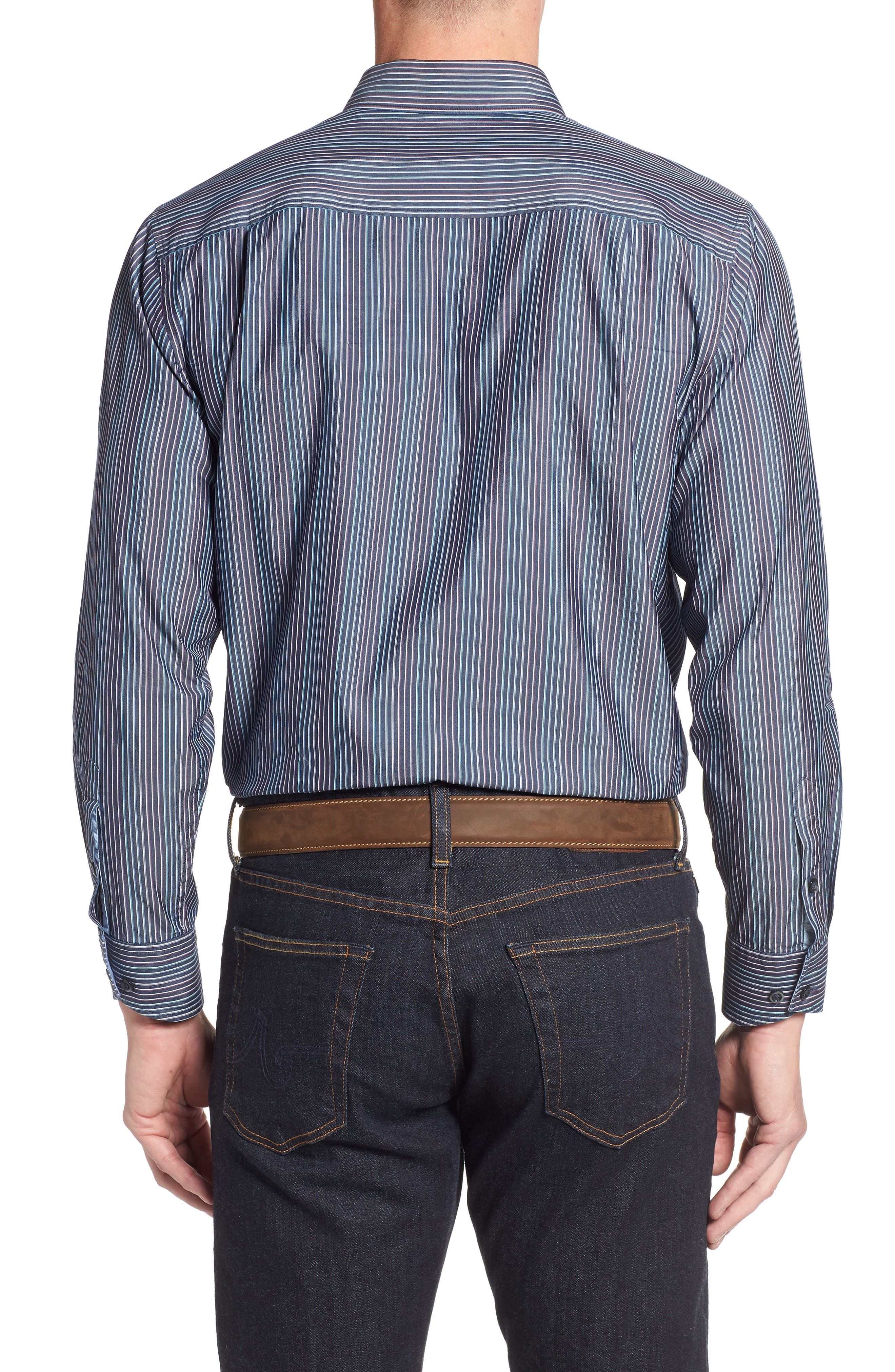 TOMMY BAHAMA,                             Paradiso Prism Stripe Sport Shirt,                             Alternate thumbnail 2, color,                             400