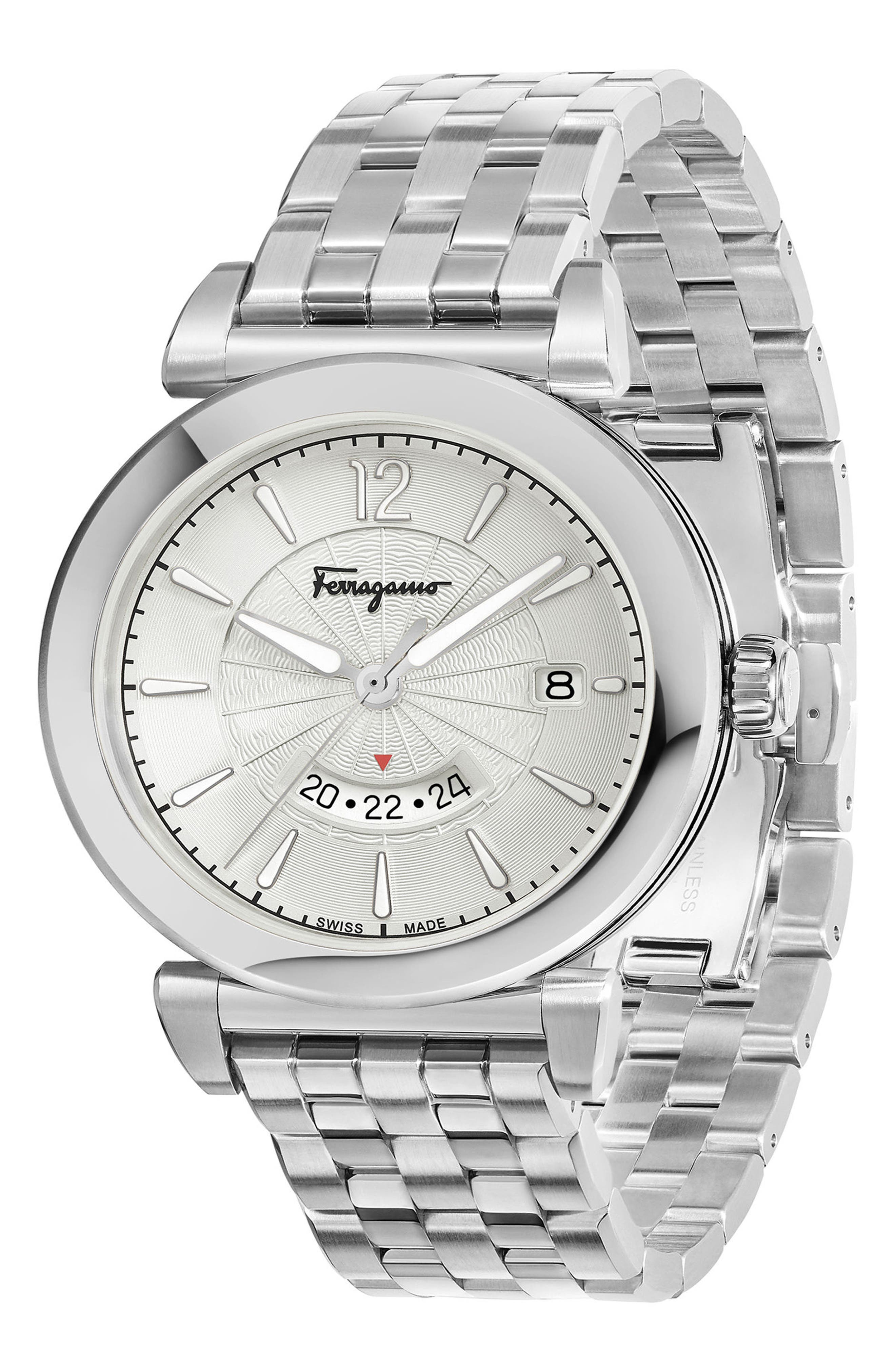 Feroni Bracelet Watch, 40mm,                             Alternate thumbnail 3, color,                             SILVER