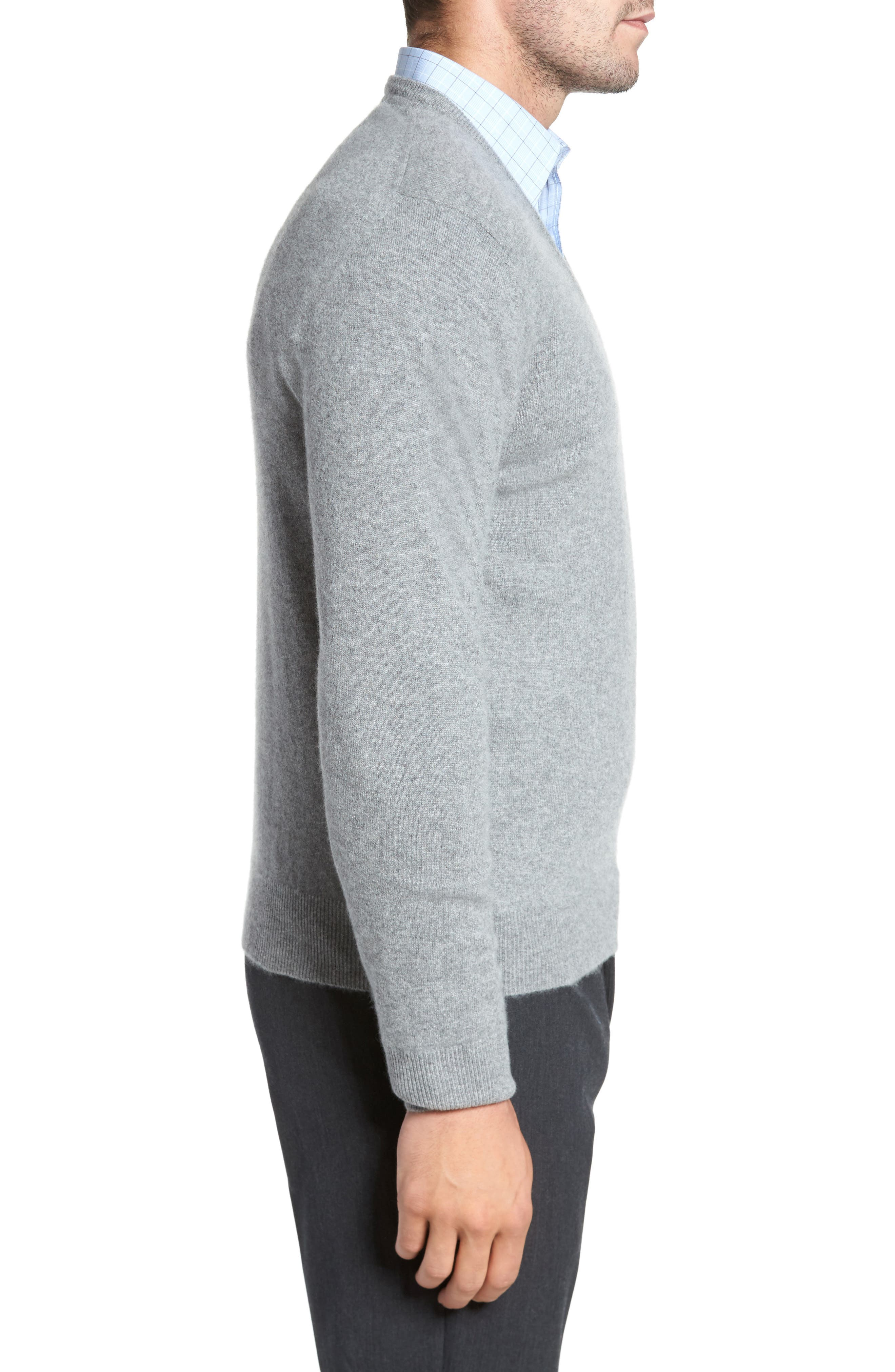 Cashmere V-Neck Sweater,                             Alternate thumbnail 14, color,