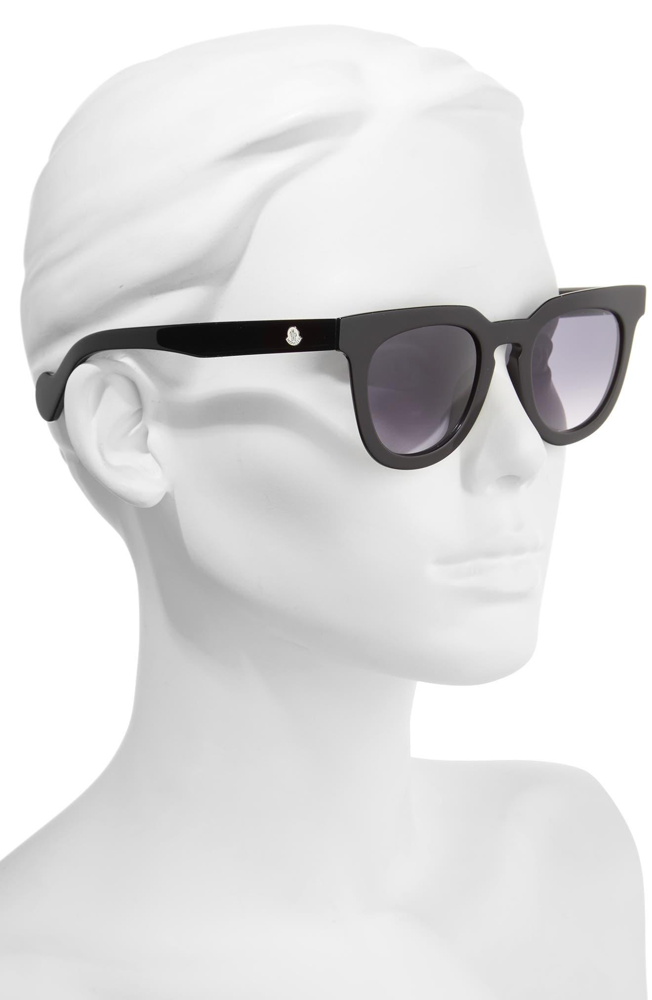 48mm Retro Sunglasses,                             Alternate thumbnail 2, color,                             001
