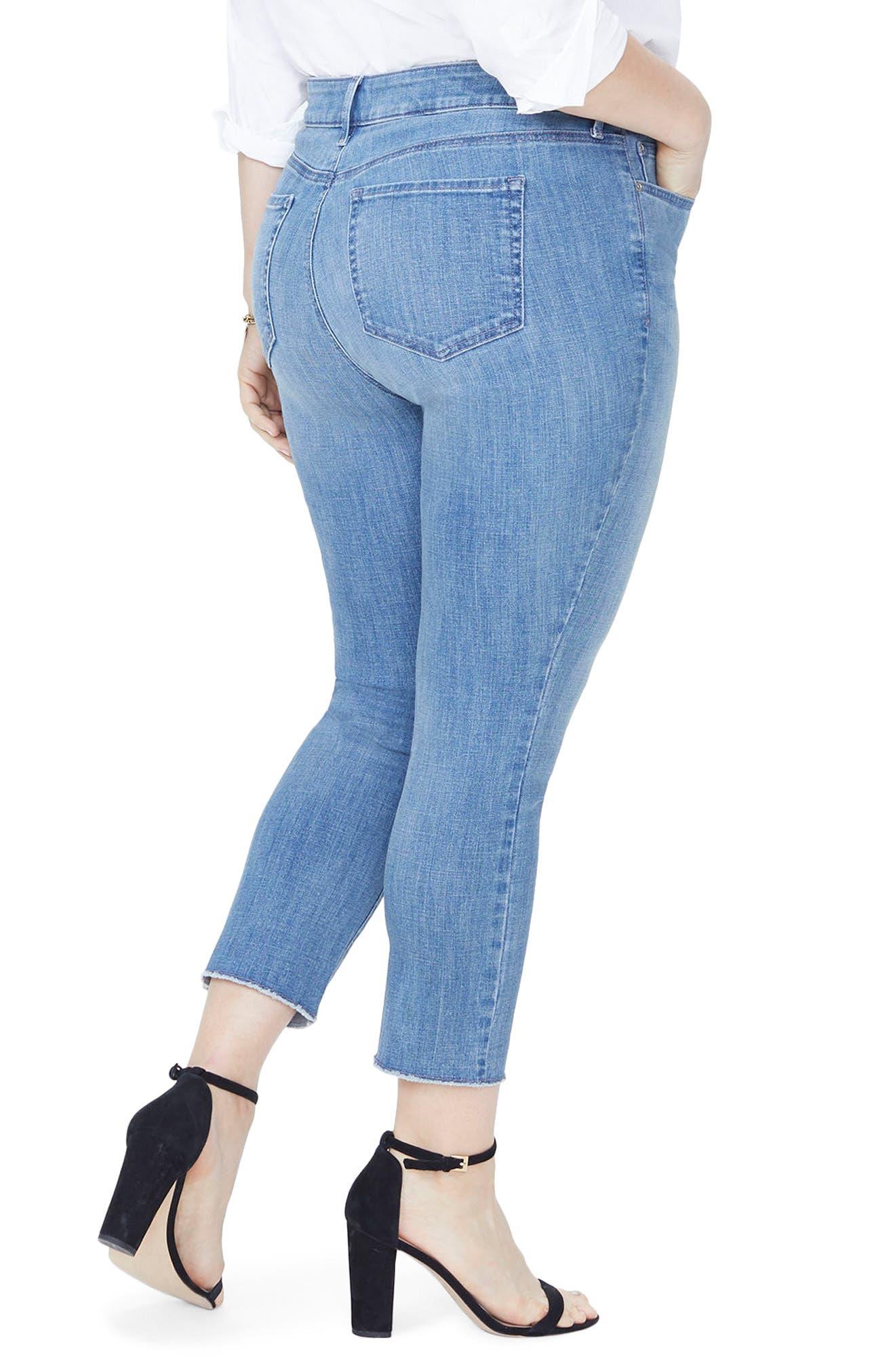 Sheri High Rise Slim Fray Hem Ankle Jeans,                             Alternate thumbnail 2, color,                             MAXWELL