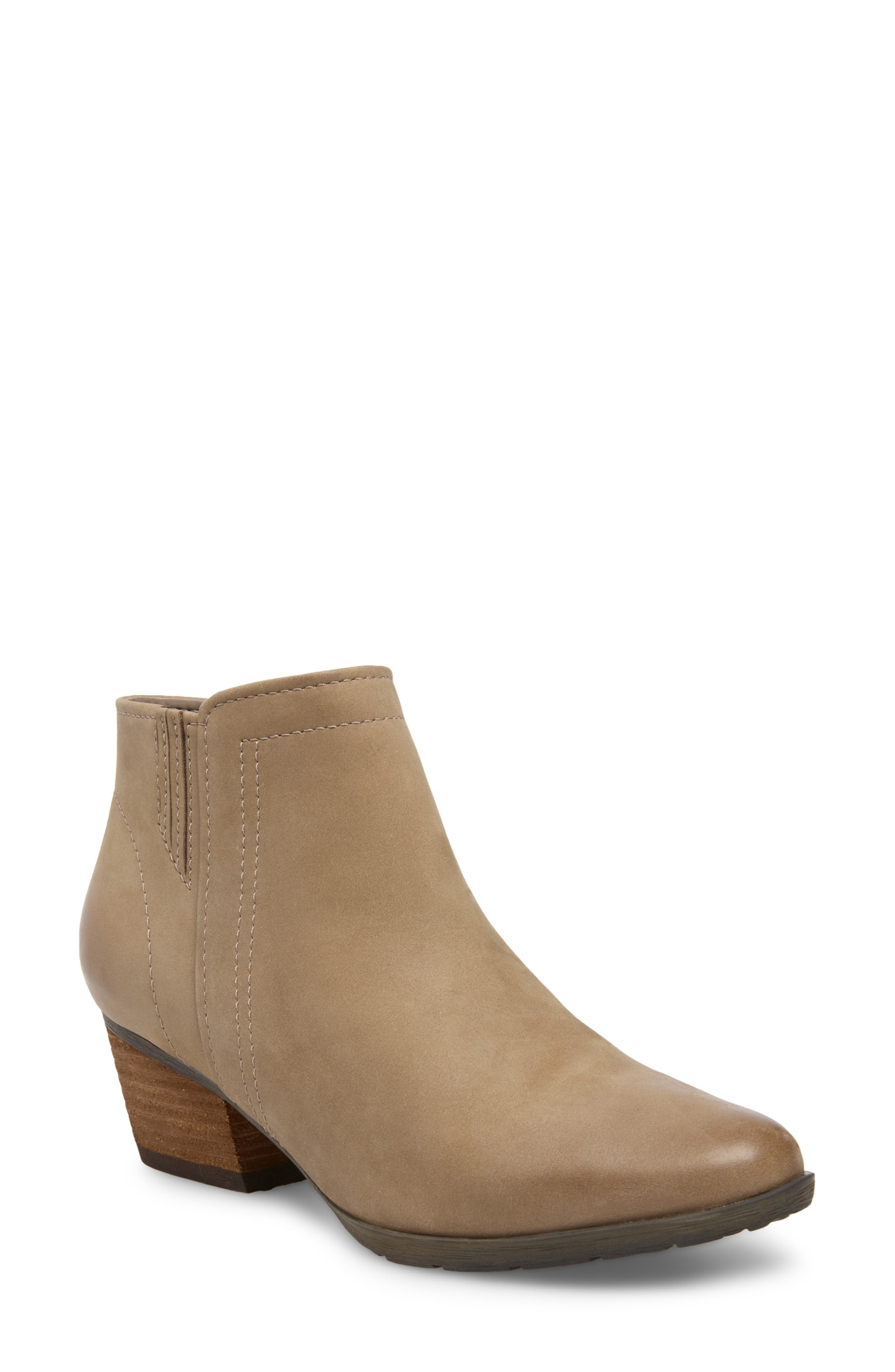 'Valli' Waterproof  Bootie,                             Main thumbnail 1, color,                             MUSHROOM NUBUCK