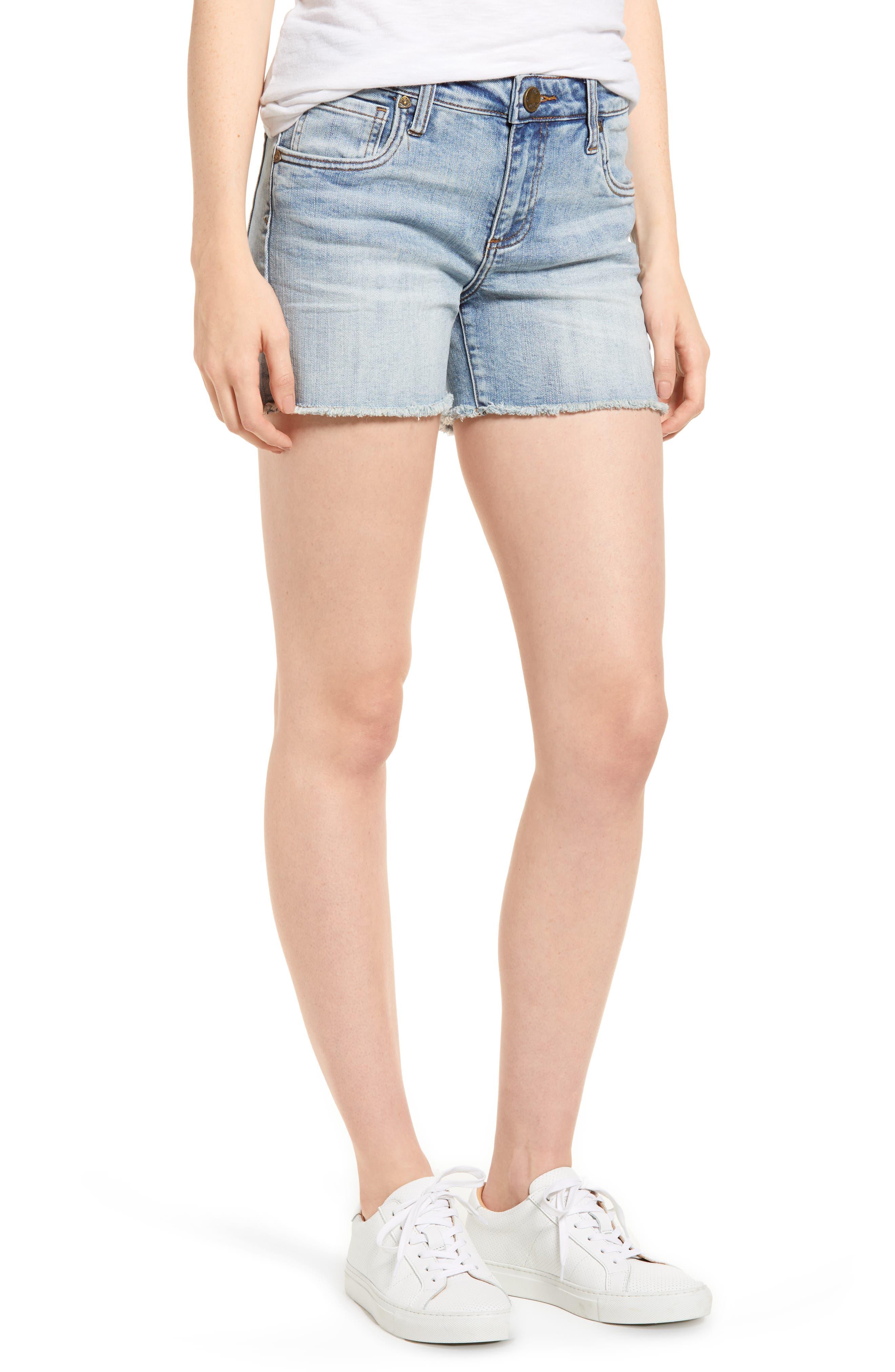 Gidget Cutoff Denim Shorts,                         Main,                         color, 470