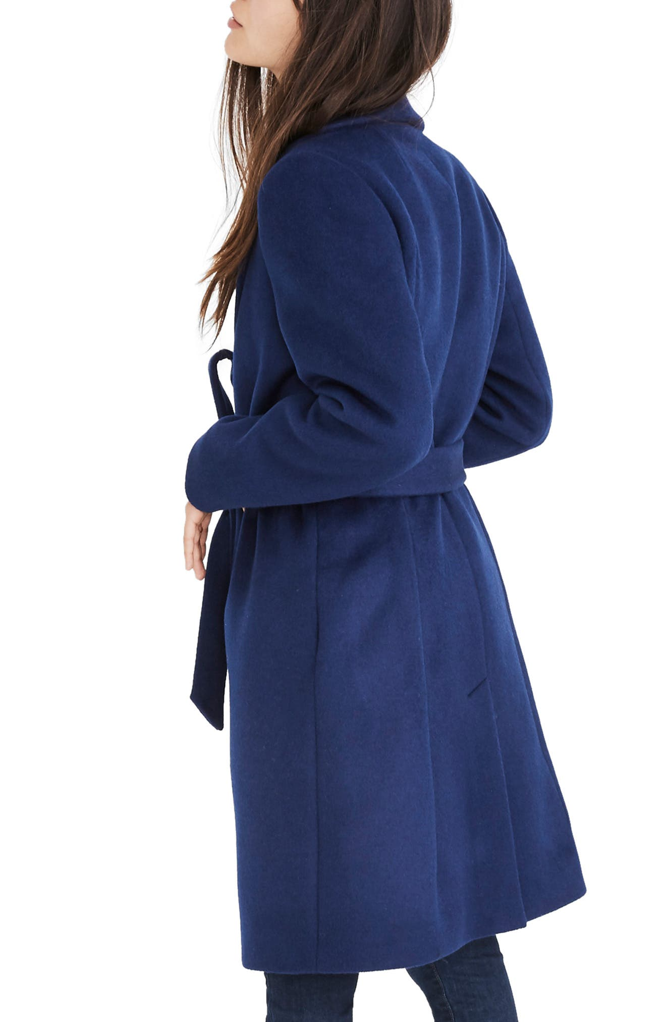 Shawl Collar Wrap Coat,                             Alternate thumbnail 2, color,                             NIGHT SKY