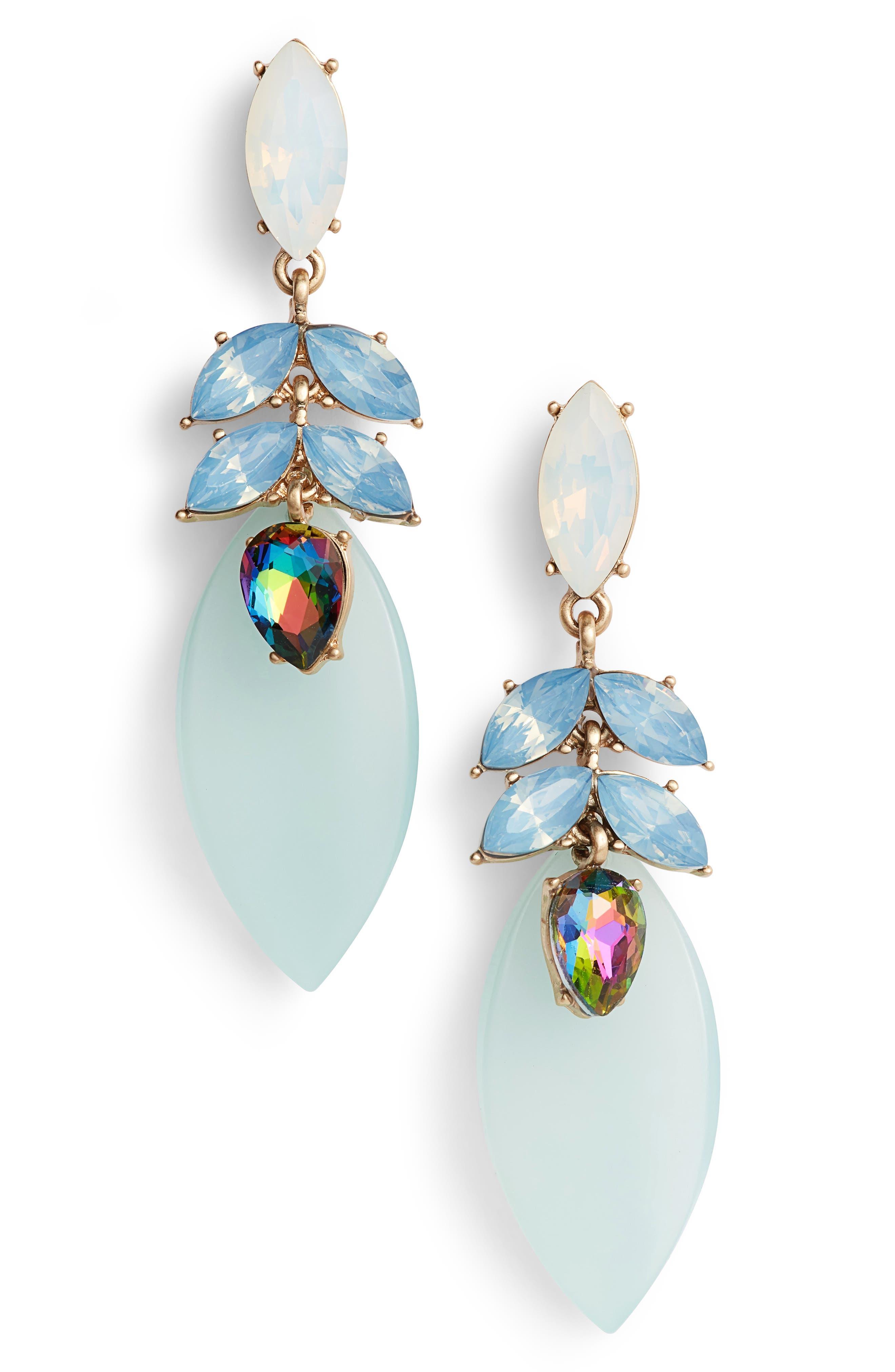 Petal Drop Earrings,                         Main,                         color, 450