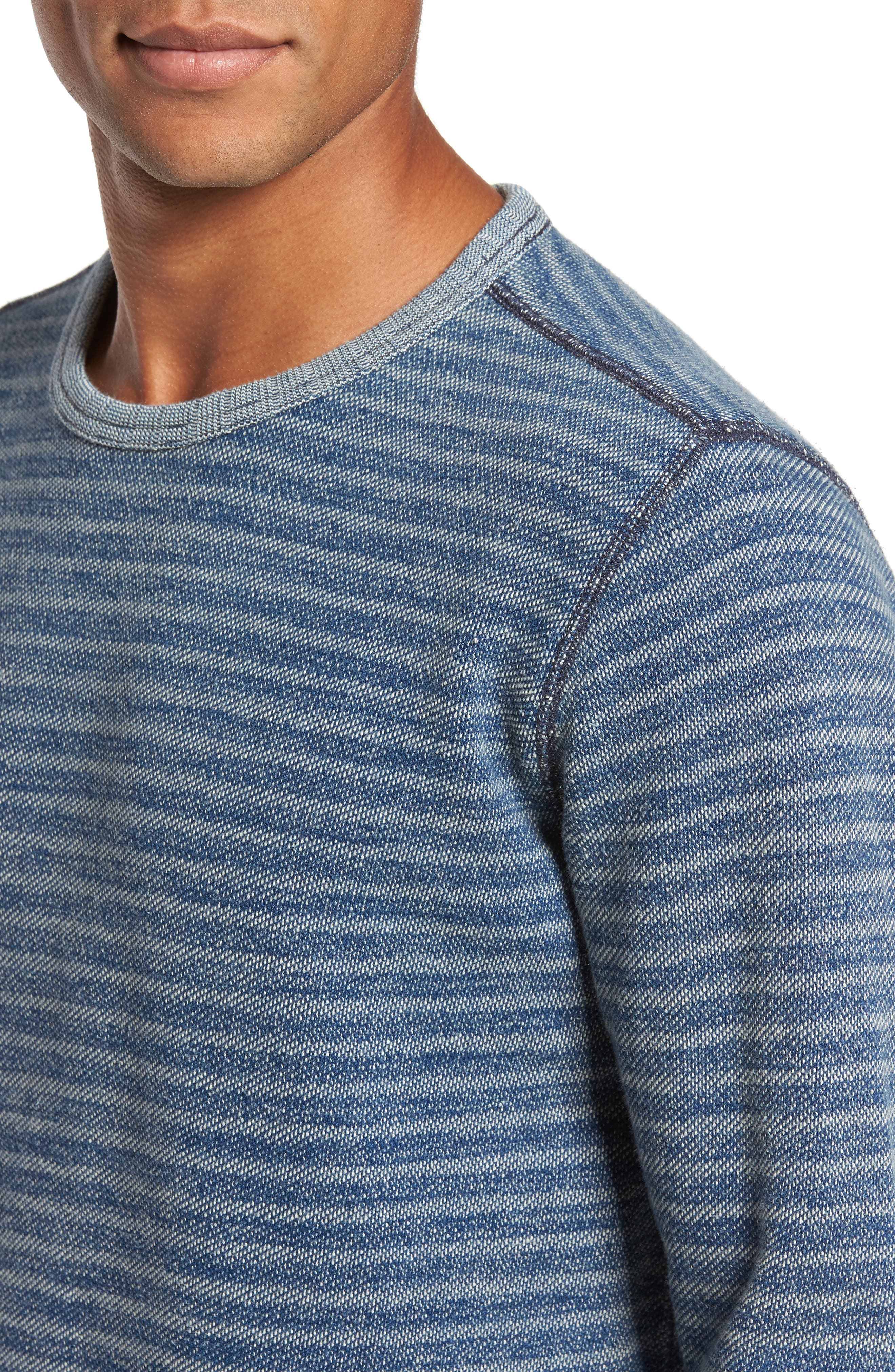 Stripe Crewneck Sweatshirt,                             Alternate thumbnail 4, color,                             402