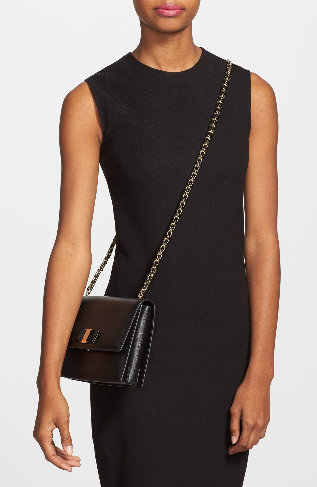 Saffiano Leather Shoulder Bag,                             Alternate thumbnail 10, color,