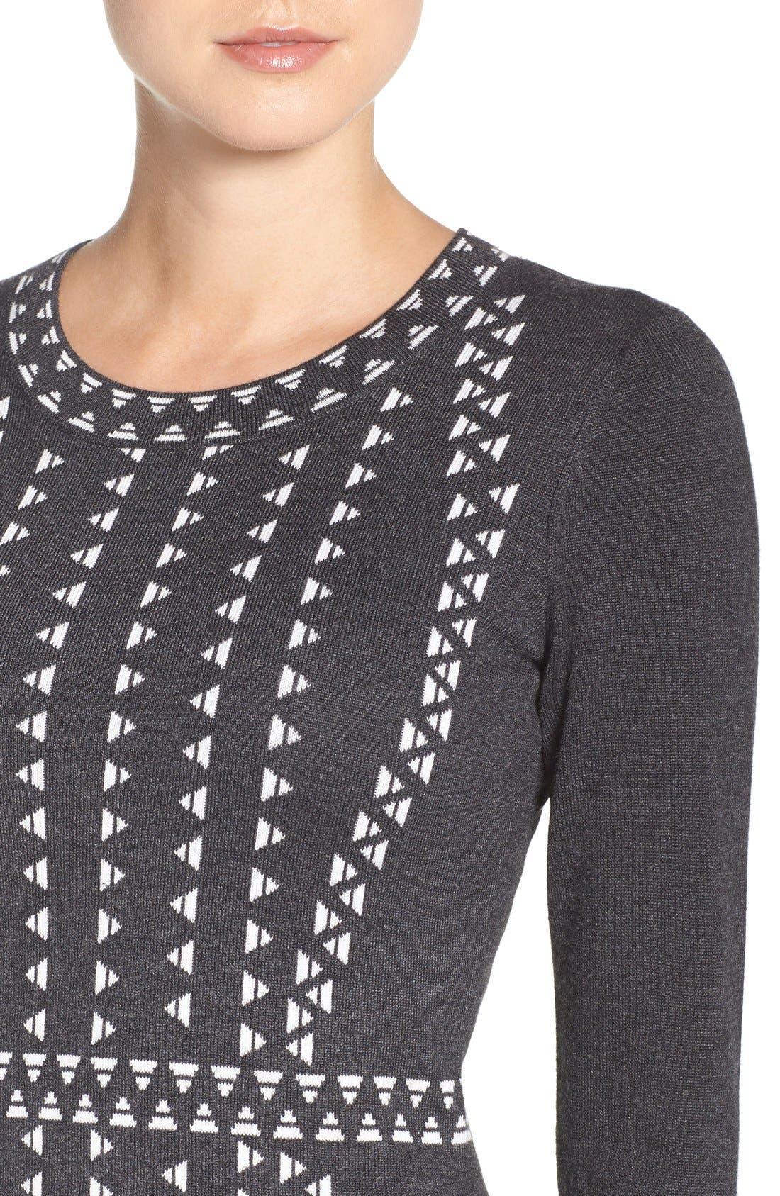 TAYLOR DRESSES,                             Sweater Sheath Dress,                             Alternate thumbnail 2, color,                             021