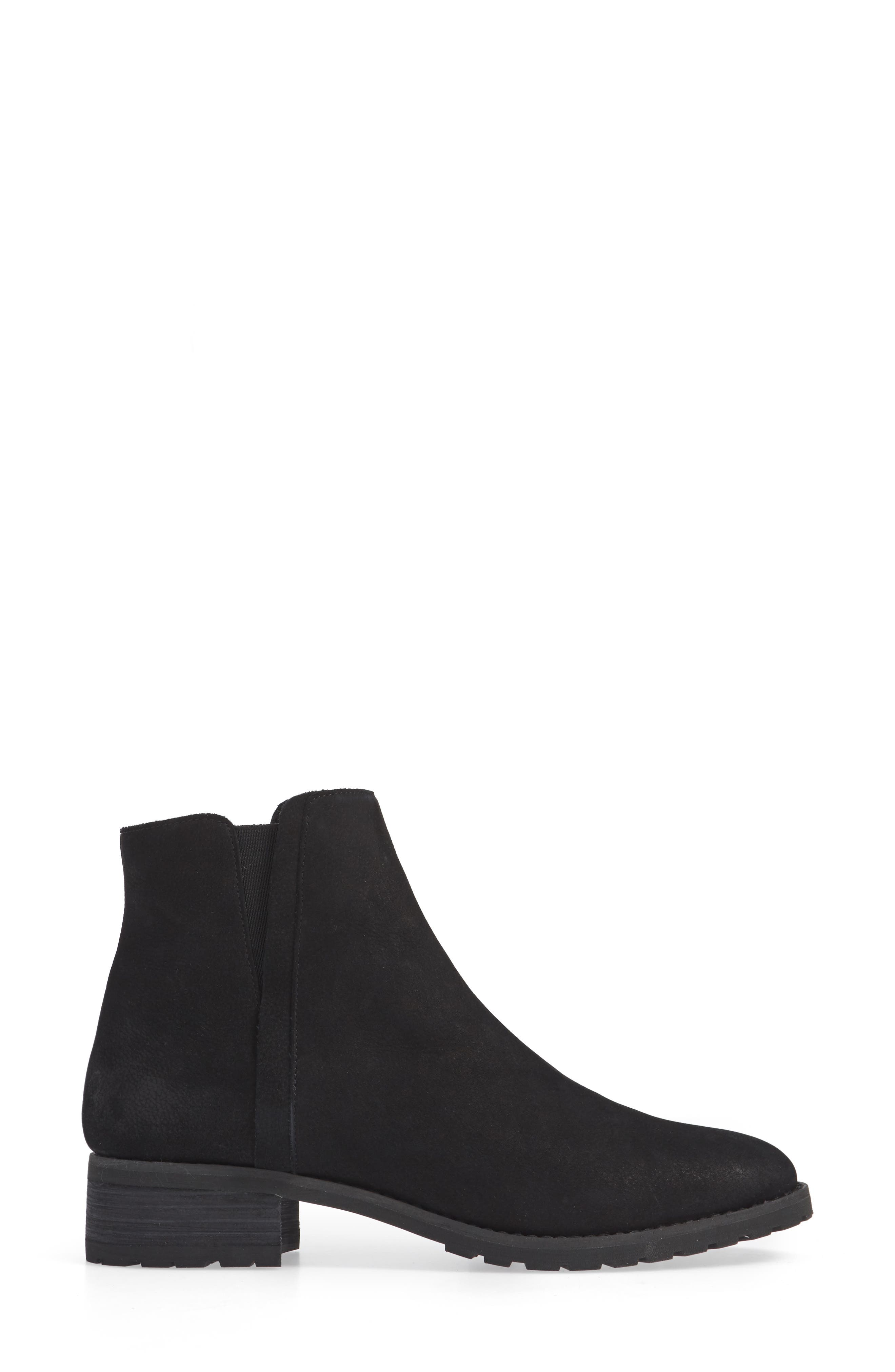 Ollie Water Resistant Bootie,                             Alternate thumbnail 3, color,                             BLACK OILED NUBUCK