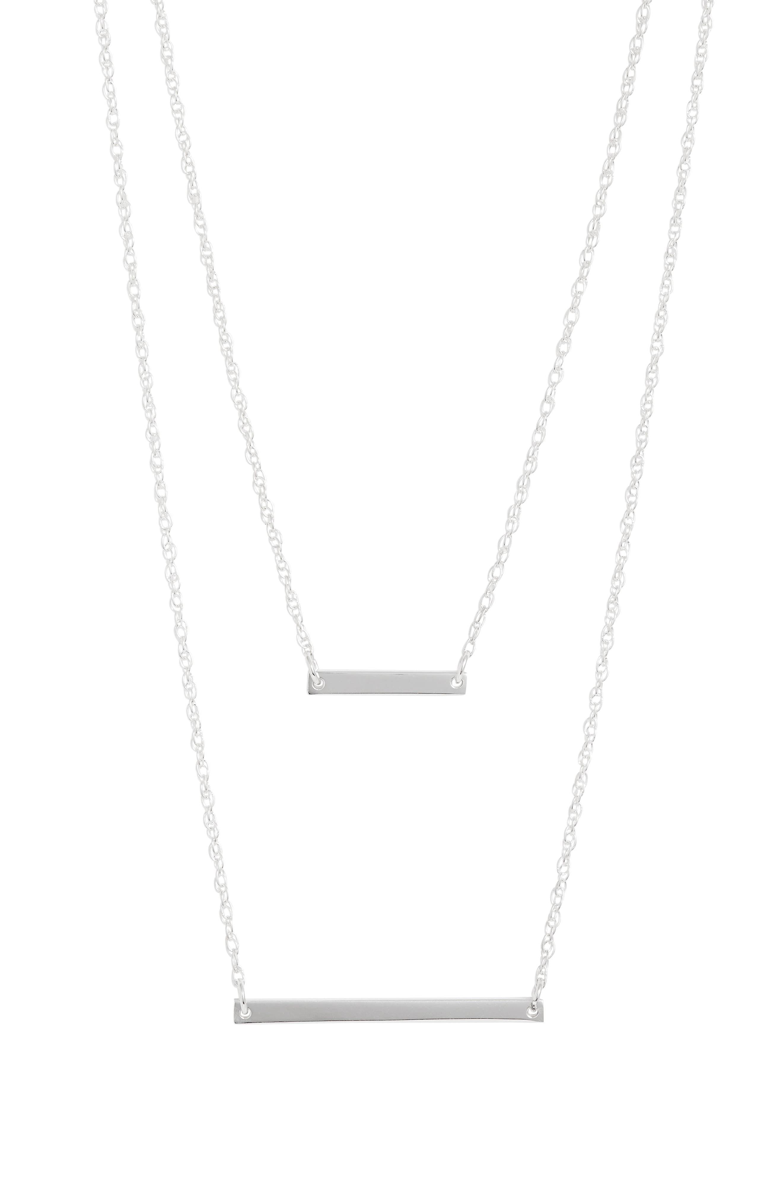 Cynthia Layered Pendant Necklace,                             Main thumbnail 1, color,                             SILVER