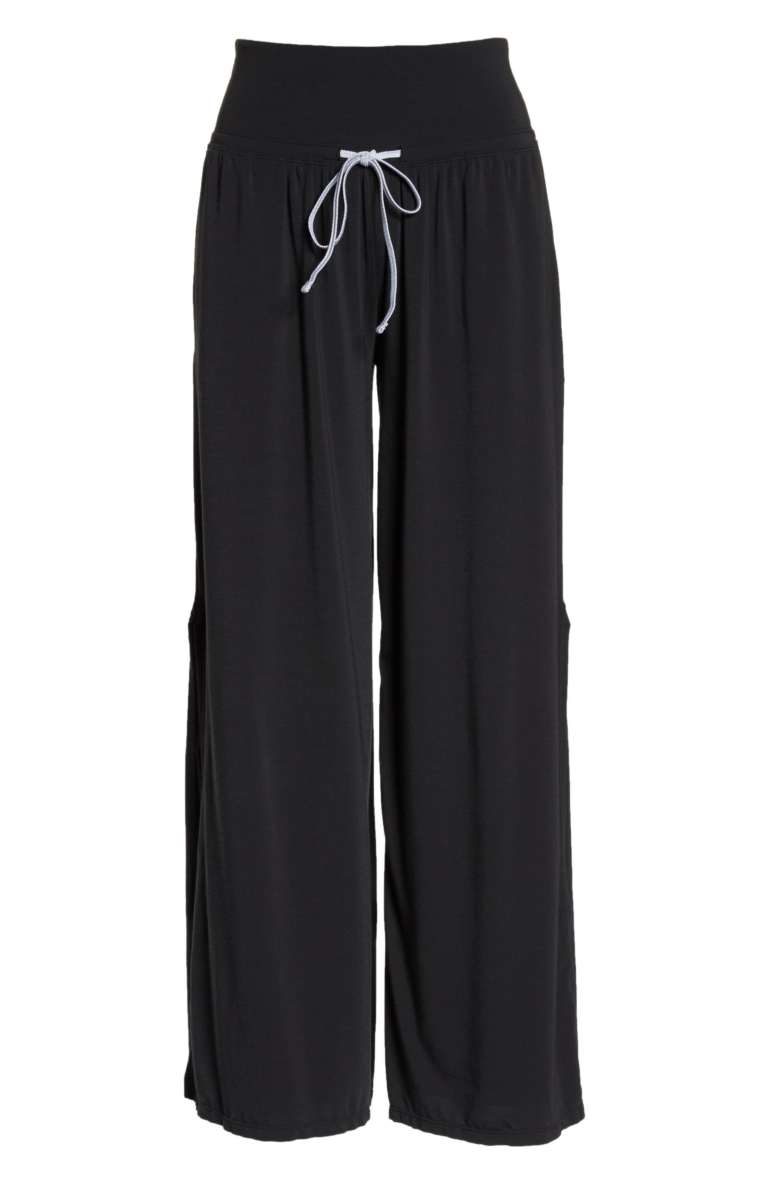 Easy Breezy Wide Leg Cover-Up Pants,                             Alternate thumbnail 7, color,                             BLACK