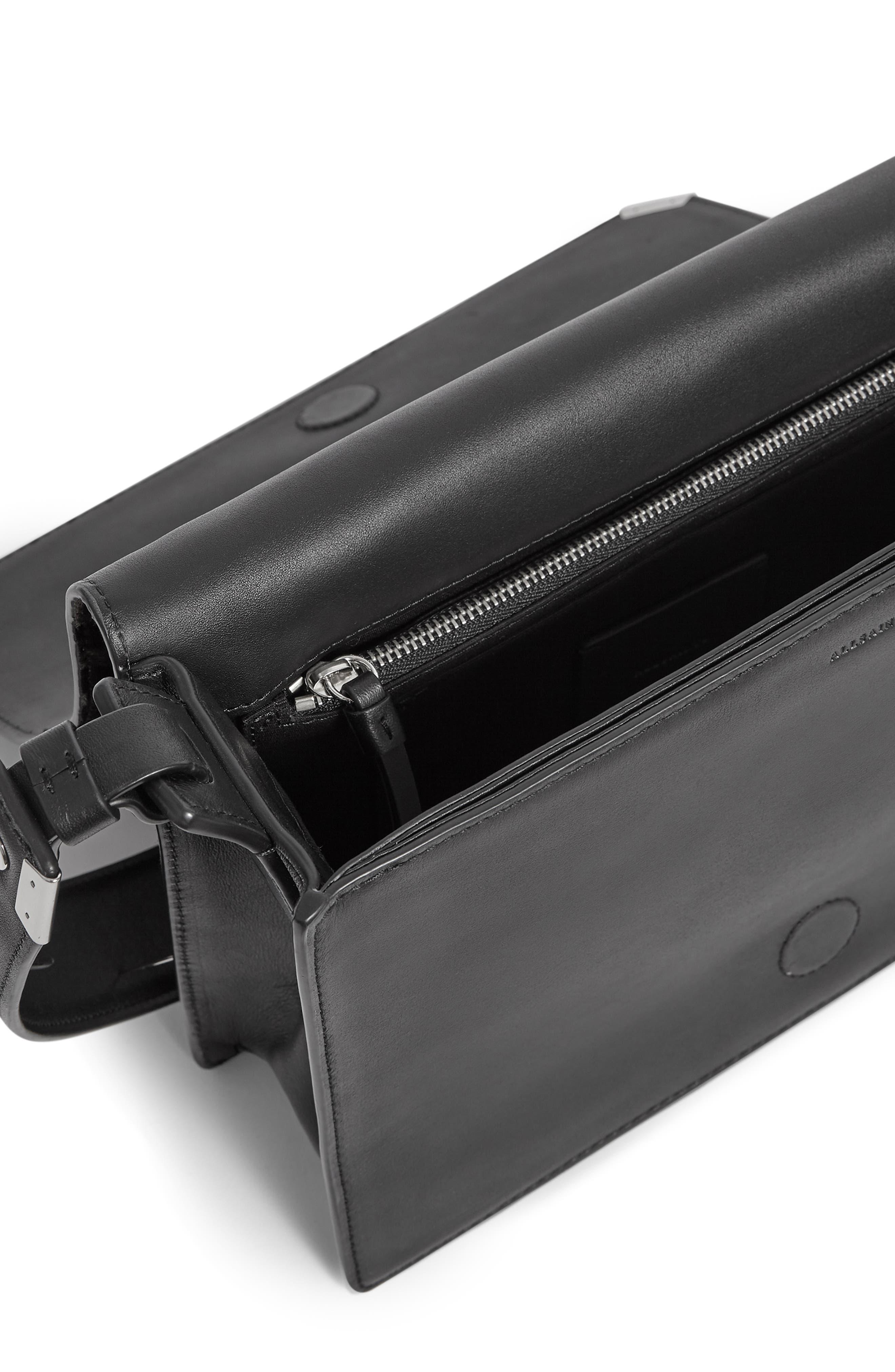 Vincent Genuine Calf Hair Shoulder Bag,                             Alternate thumbnail 3, color,                             LEOPARD/ BLACK