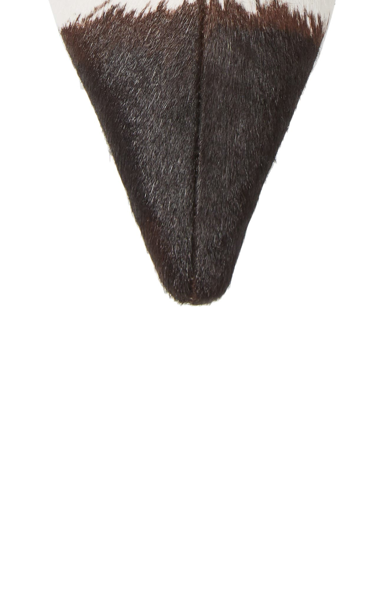 JEFFREY CAMPBELL,                             Barbell-F Genuine Calf Hair Bootie,                             Alternate thumbnail 5, color,                             001
