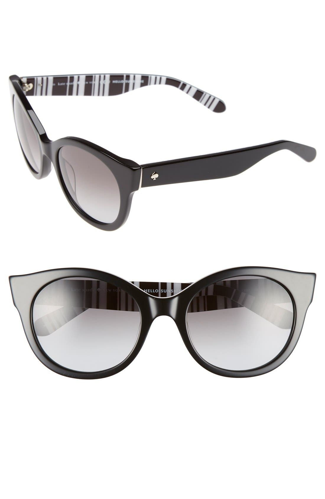 'melly' 53mm sunglasses,                         Main,                         color, 001