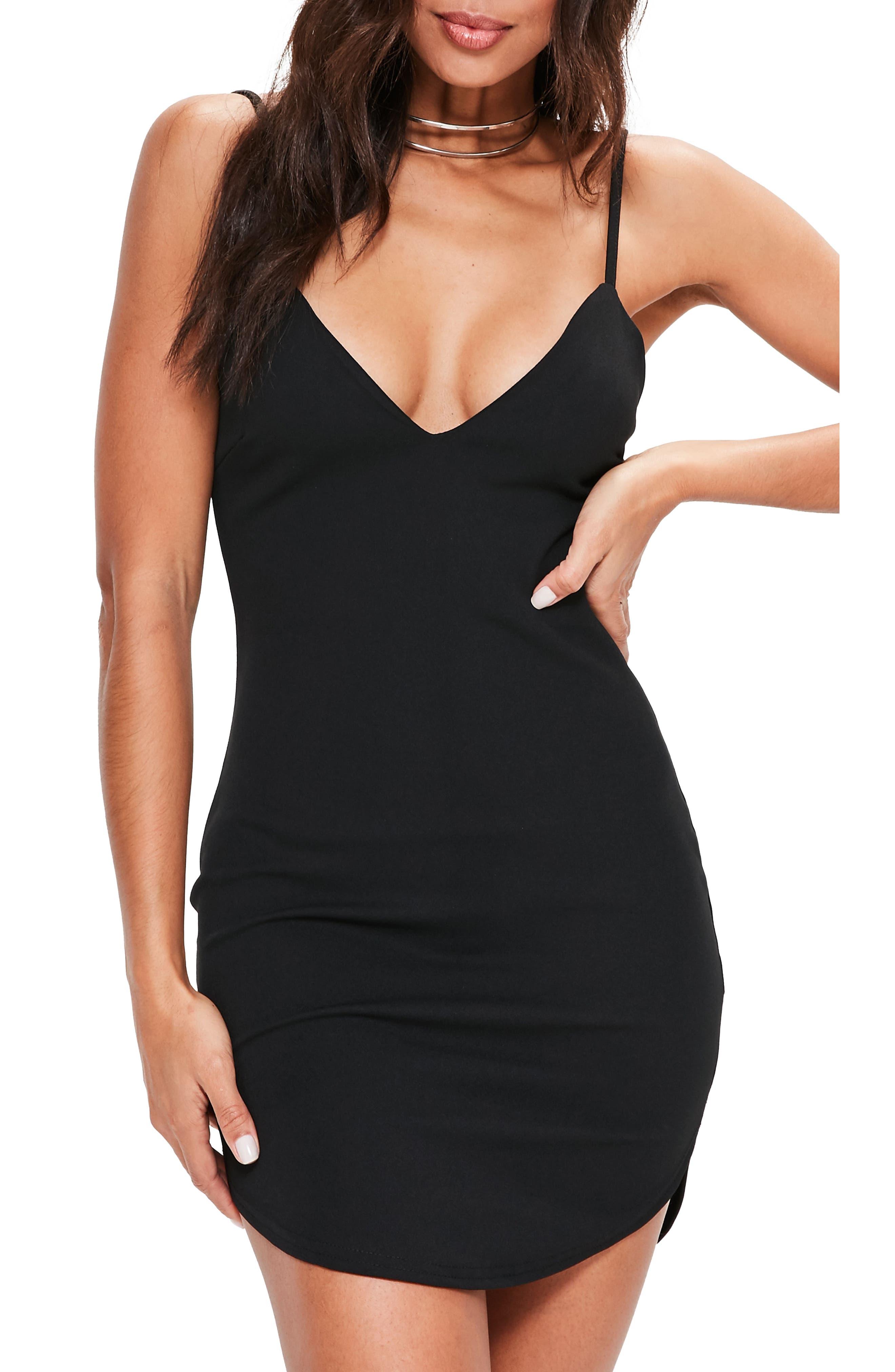 Strappy Body-Con Dress,                             Main thumbnail 1, color,                             001