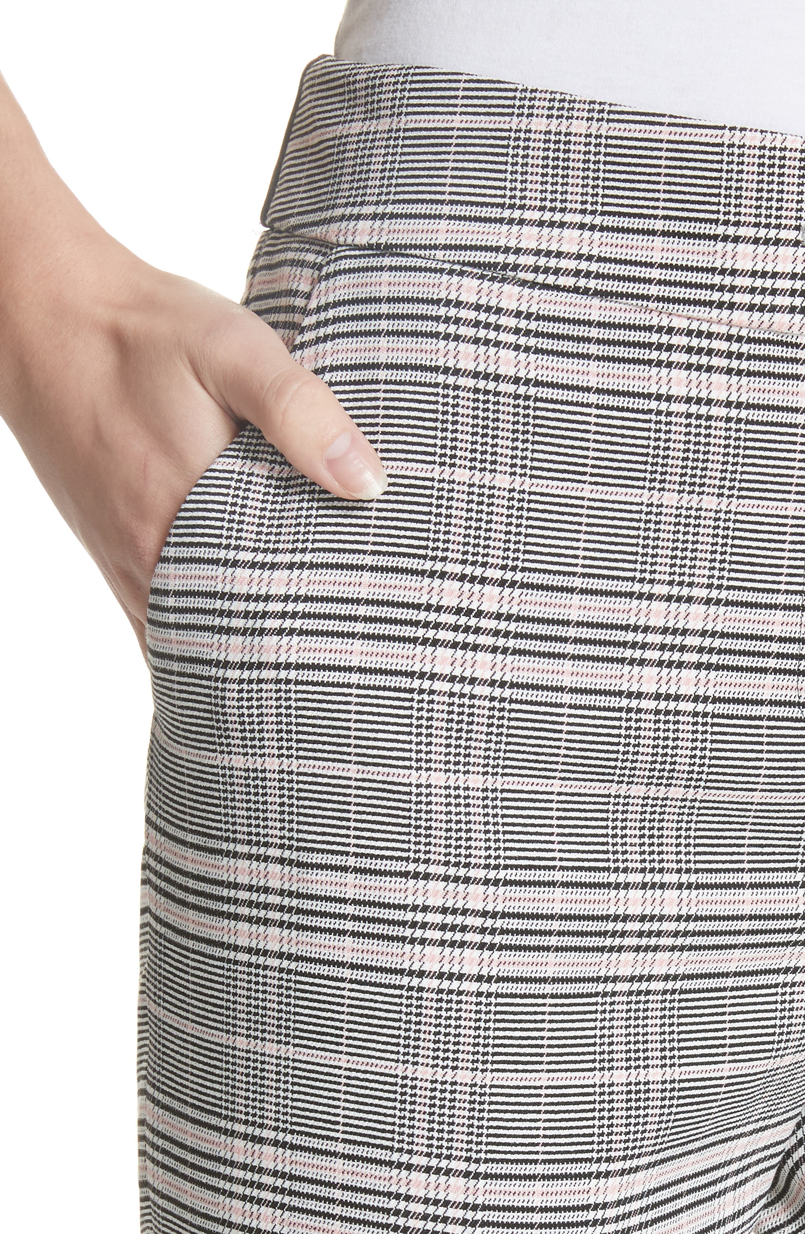 Ted Working Title Kimmt Check Plaid Trousers,                             Alternate thumbnail 4, color,                             GREY