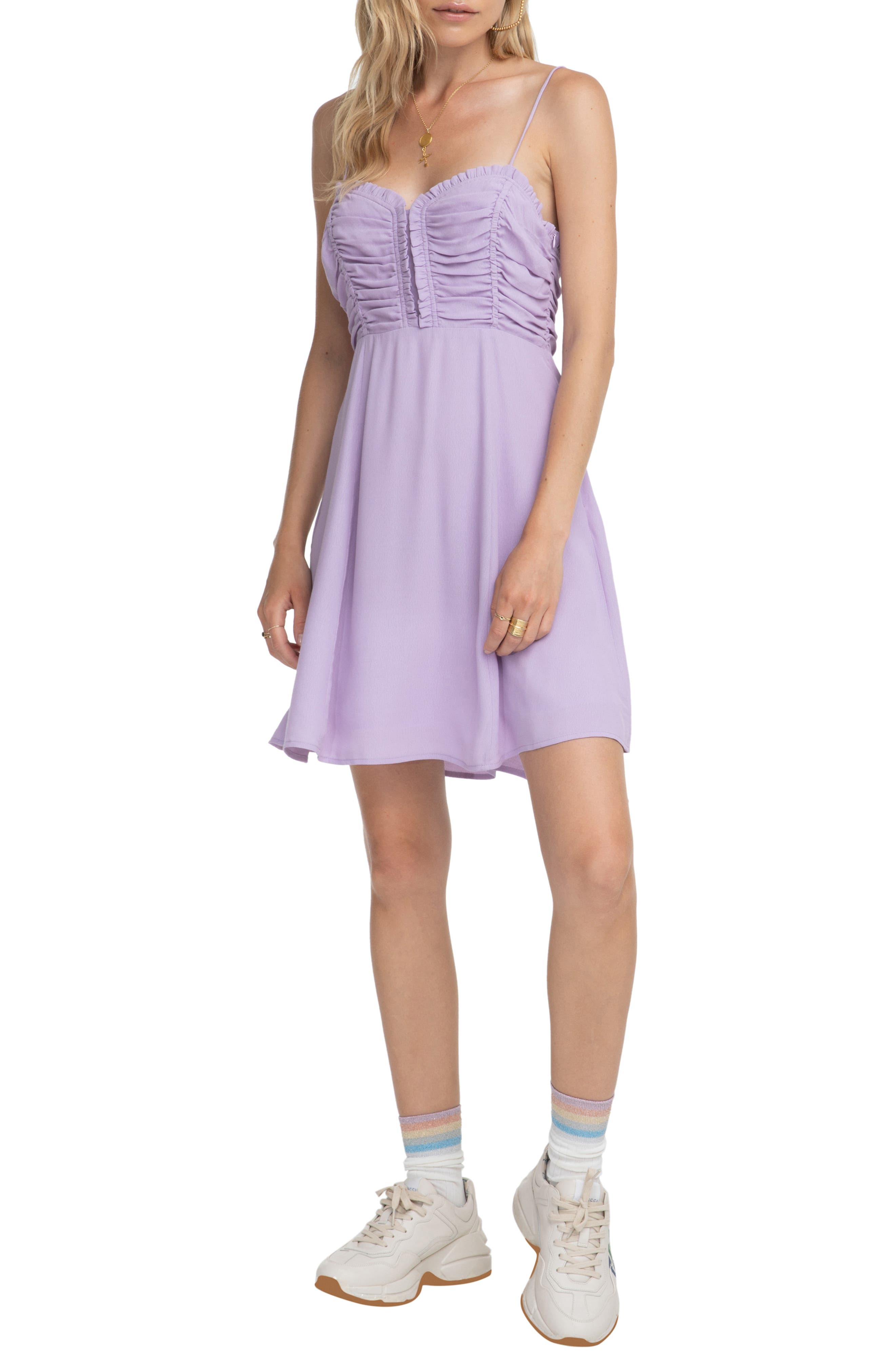 Astr The Label Ryder Skater Dress, Purple