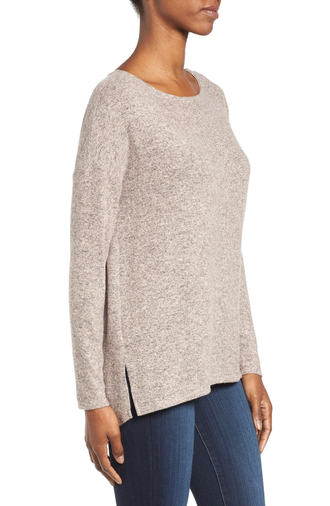 Cozy Ballet Neck High/Low Pullover,                             Alternate thumbnail 71, color,