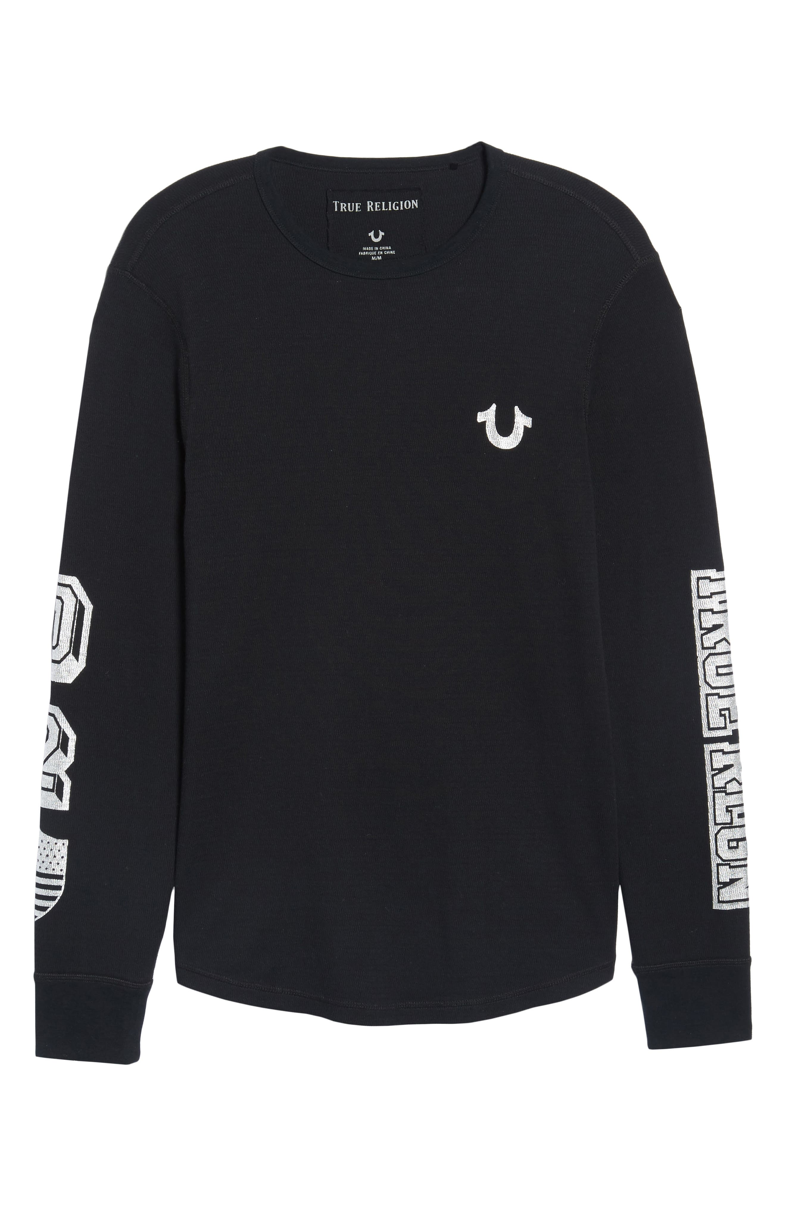 Thermal T-Shirt,                             Alternate thumbnail 6, color,                             001