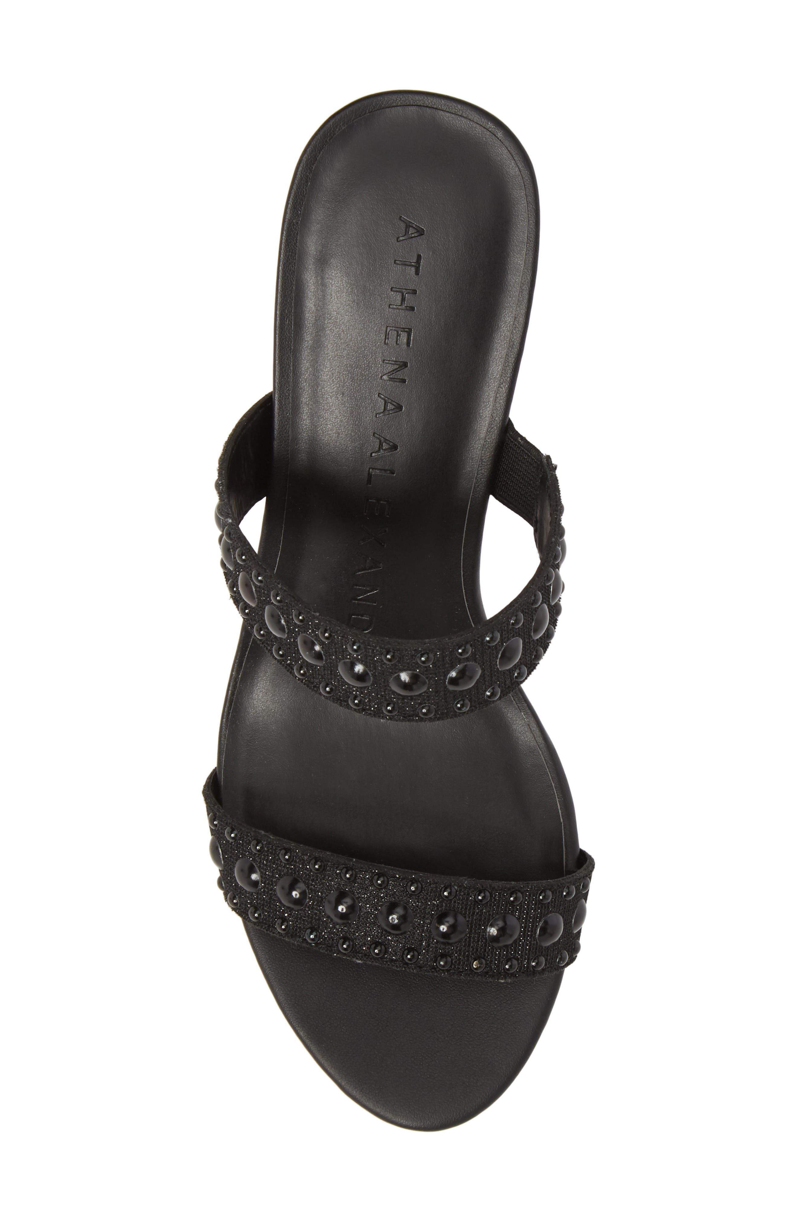 ATHENA ALEXANDER,                             Jettie Studded Mule,                             Alternate thumbnail 5, color,                             001