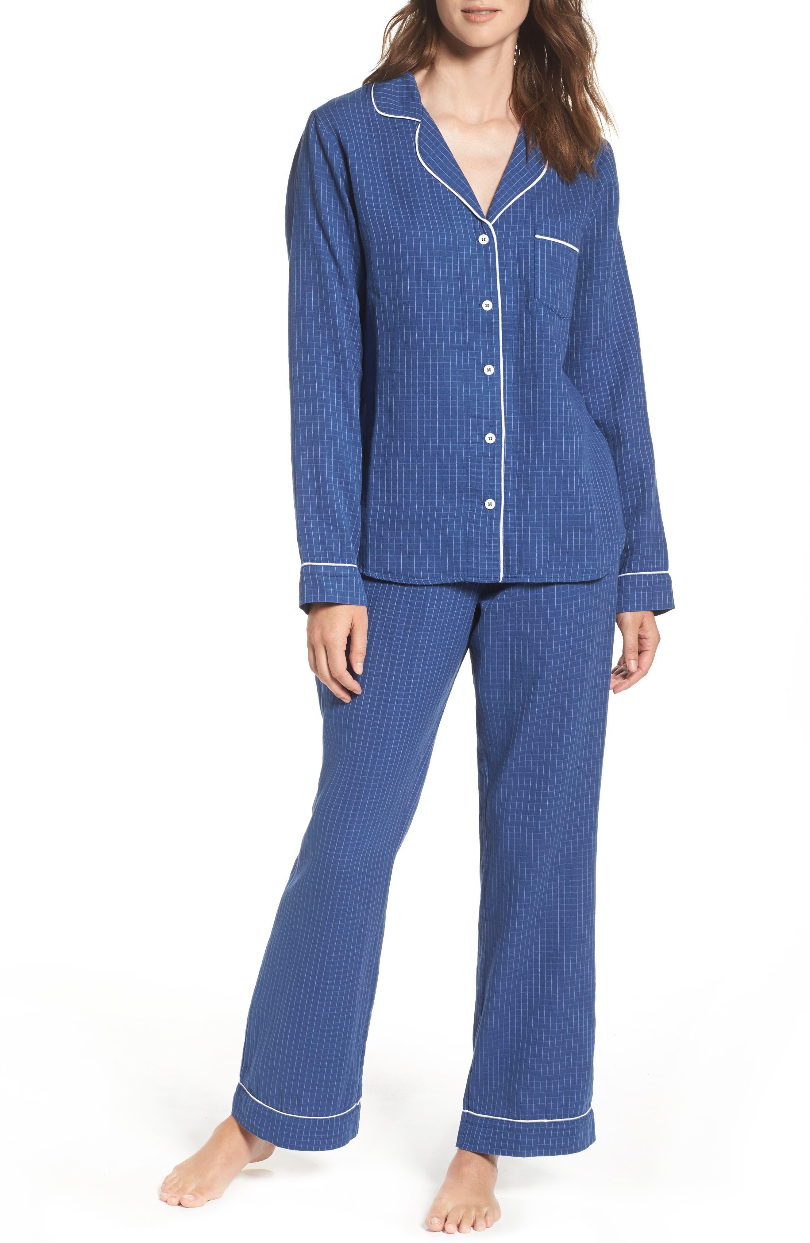 Raven Check Pajamas,                         Main,                         color, 400