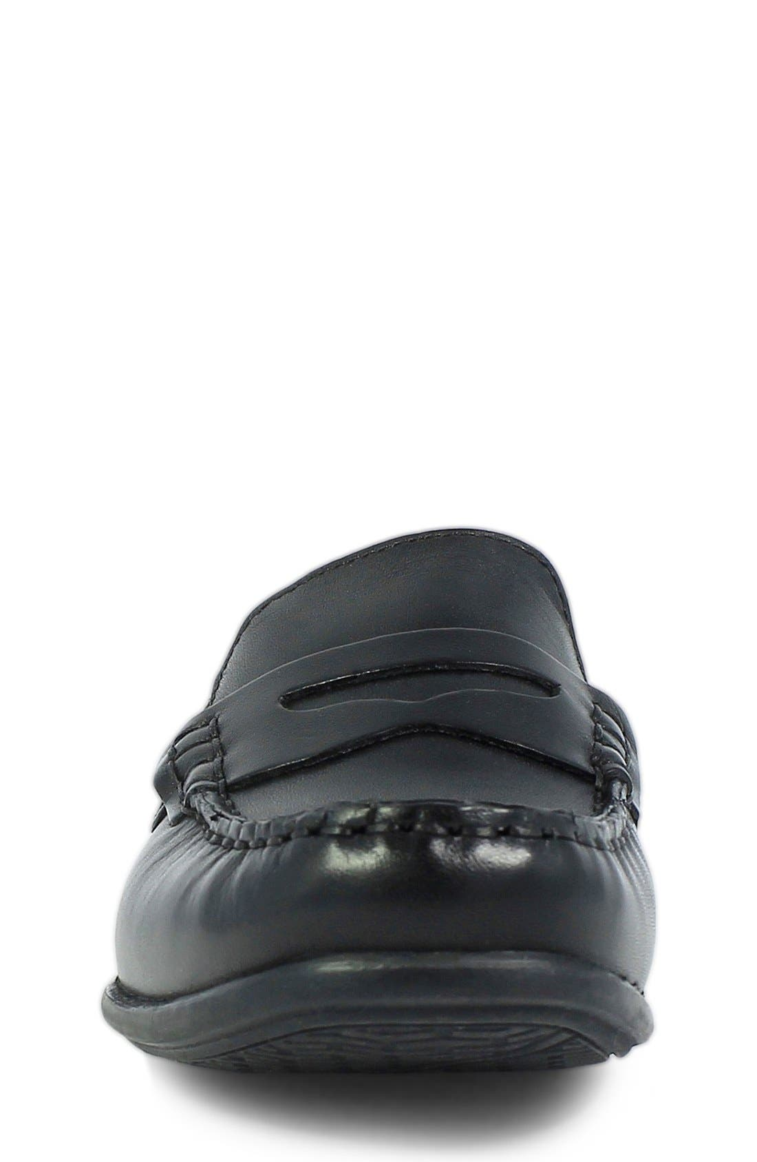 'Jasper - Driver Jr.' Loafer,                             Alternate thumbnail 5, color,                             BLACK LEATHER