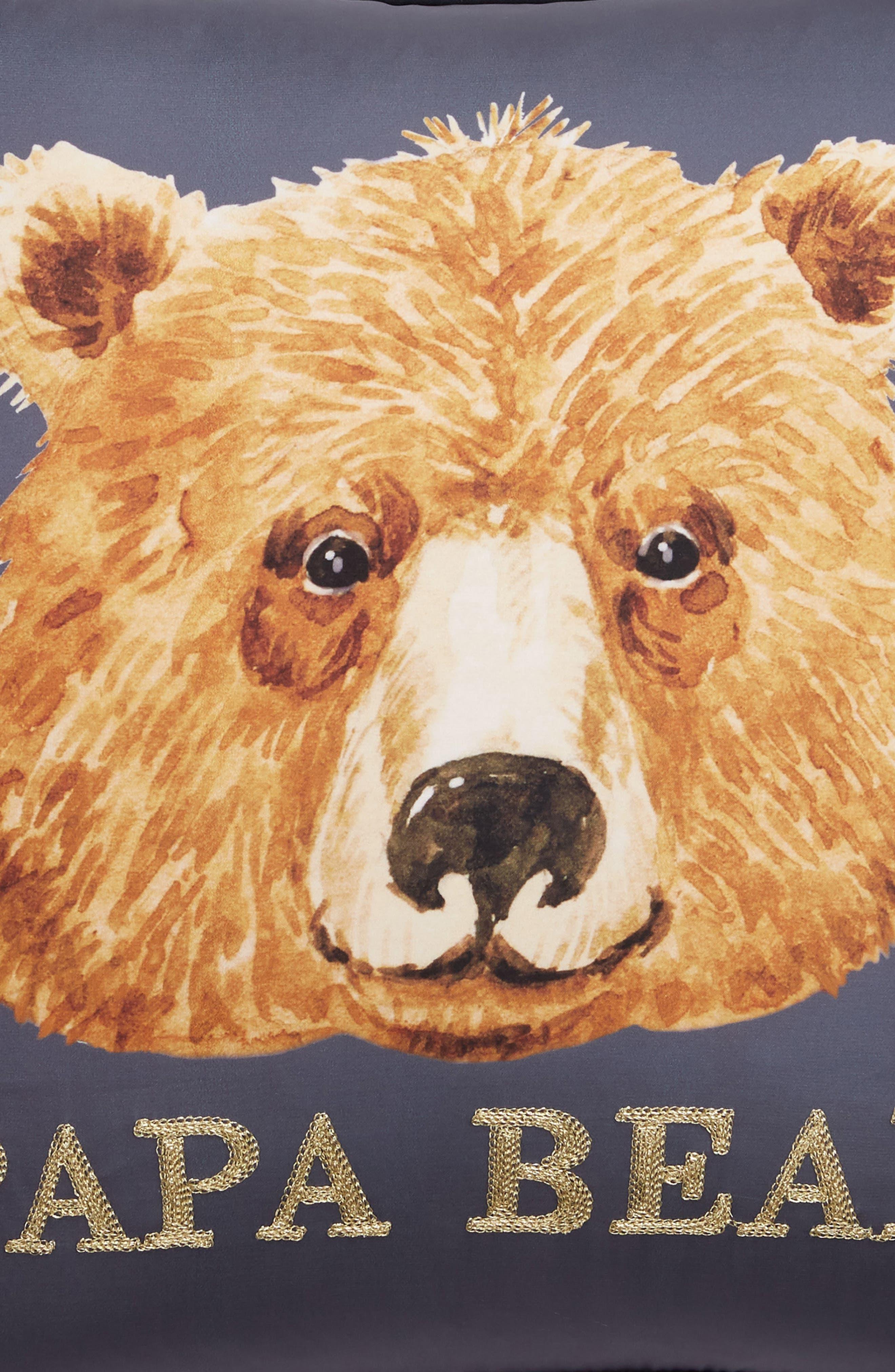 Papa Bear Accent Pillow,                             Alternate thumbnail 3, color,                             400